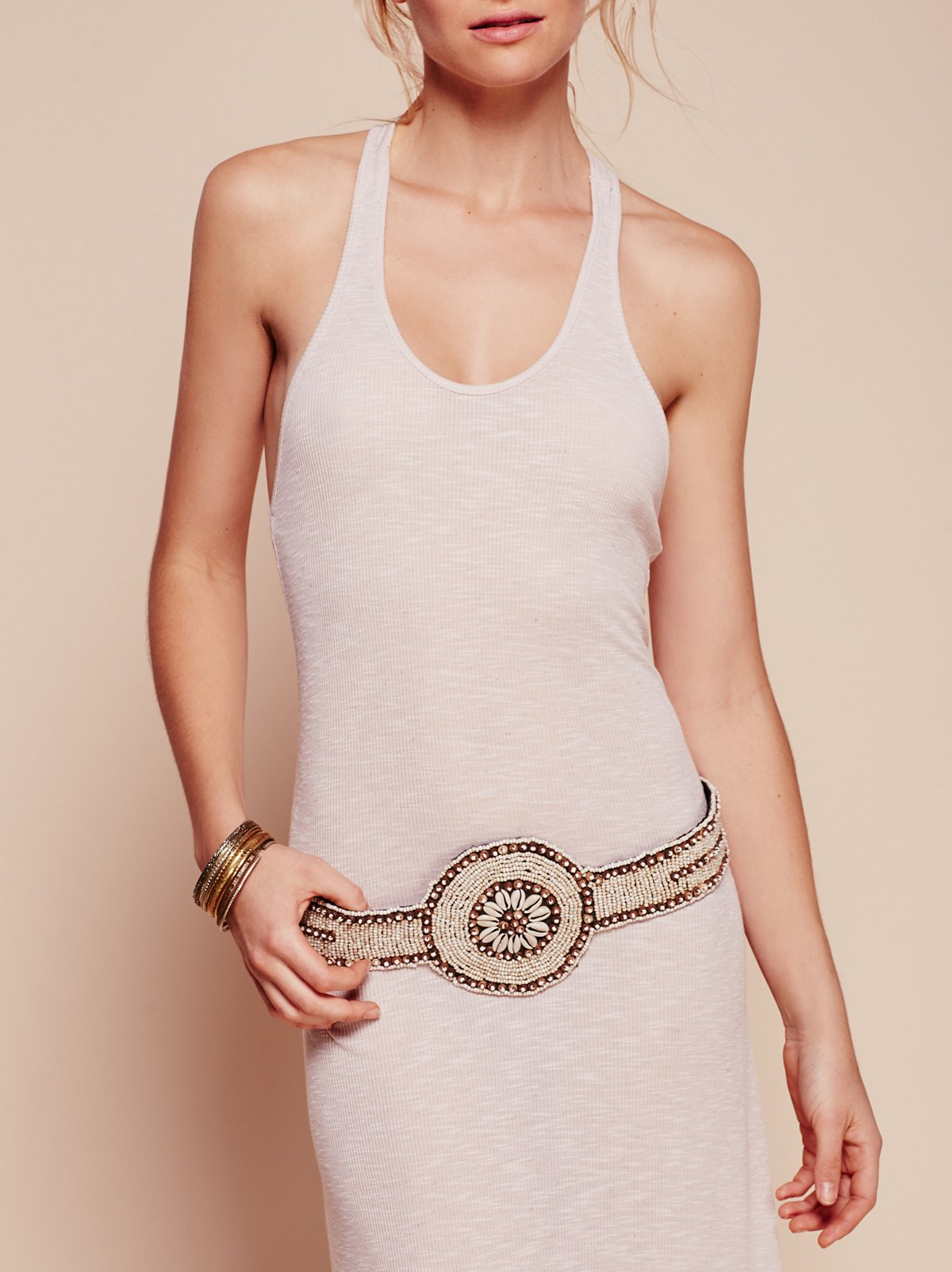 Shell Medallion Belt