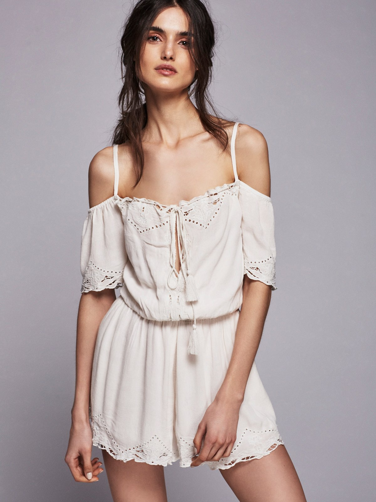 White Romance Playsuit