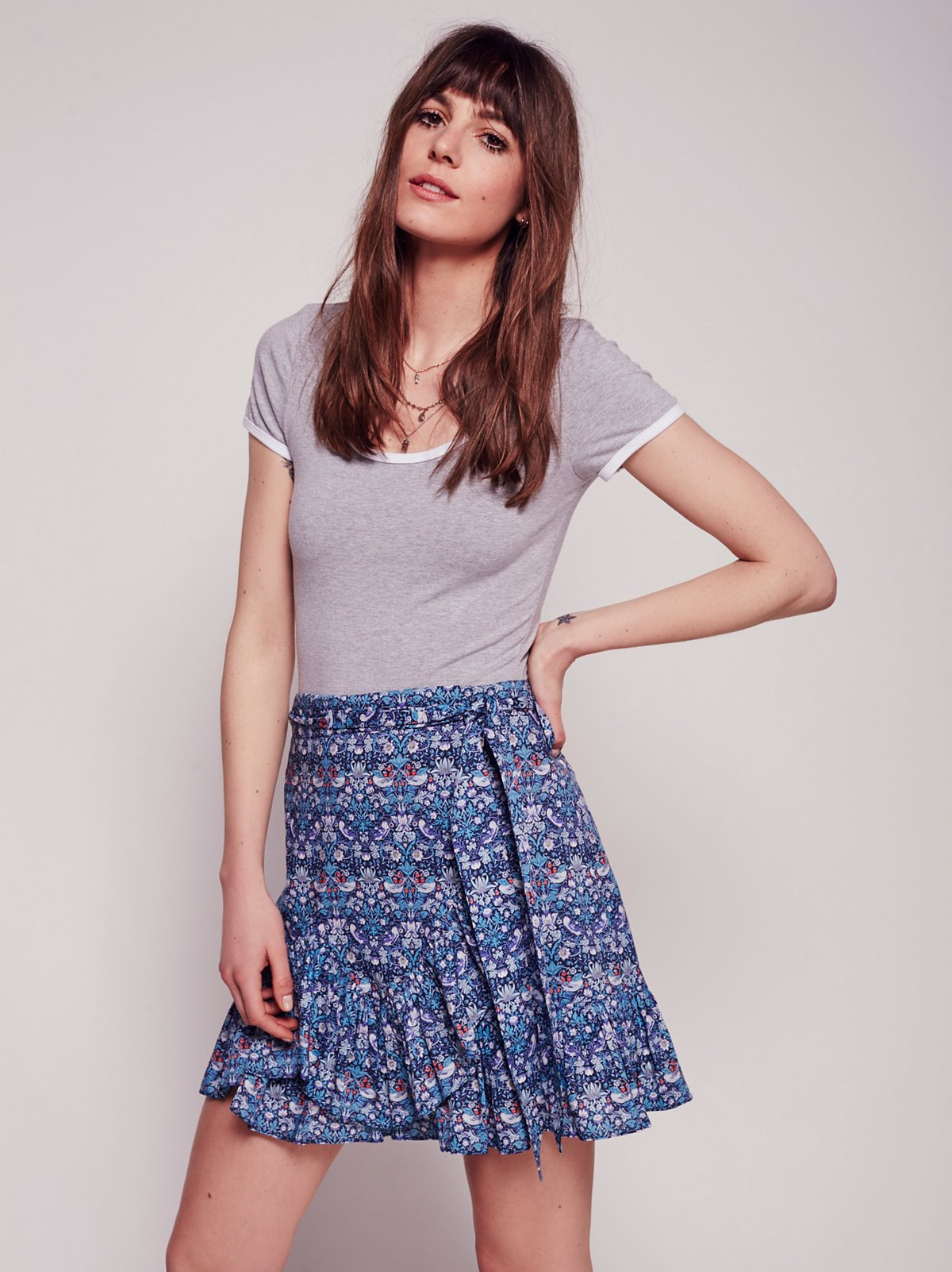 Liberty Strawberry Print Mini Skirt