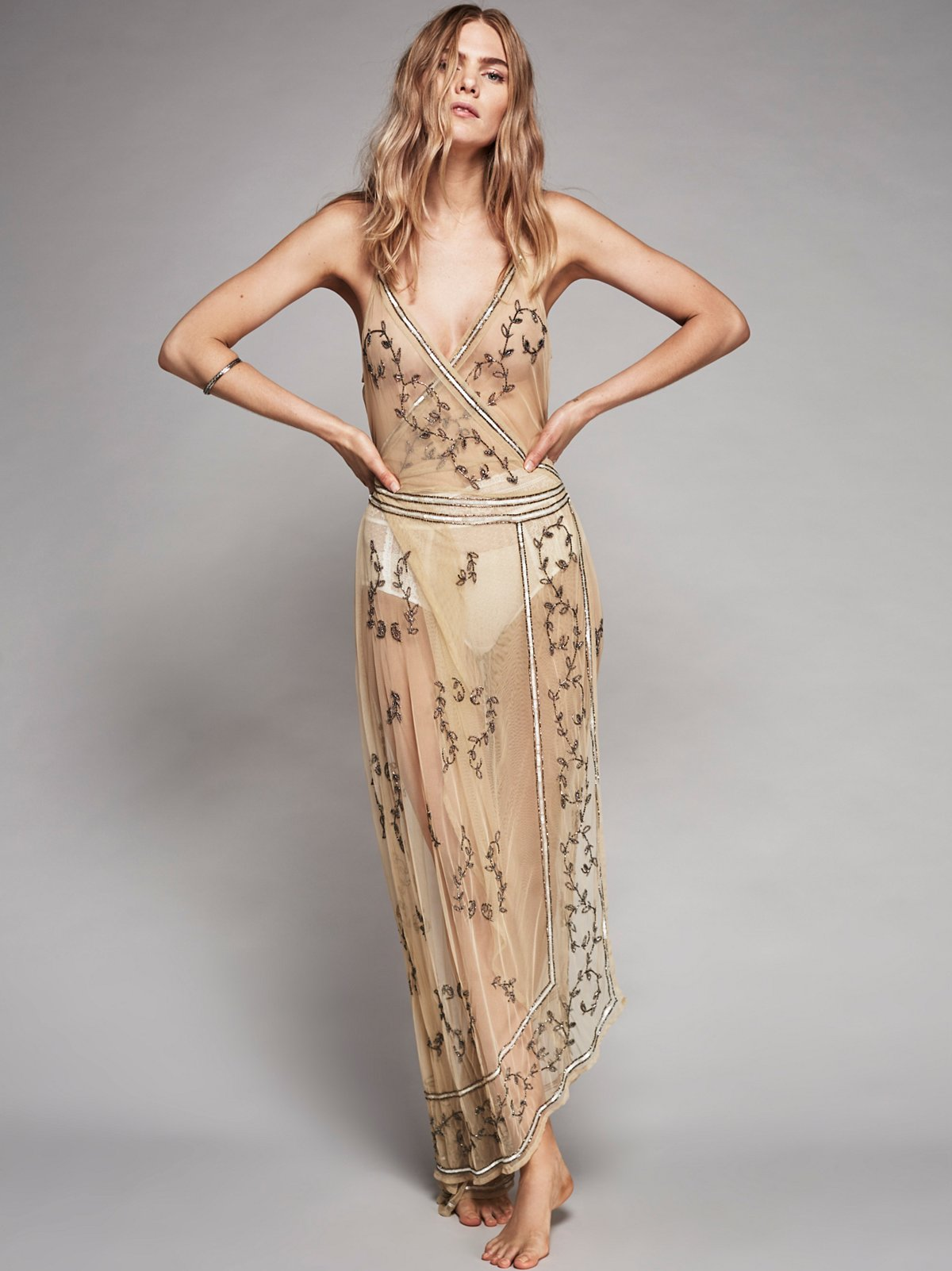Sky Fall Embellished Maxi