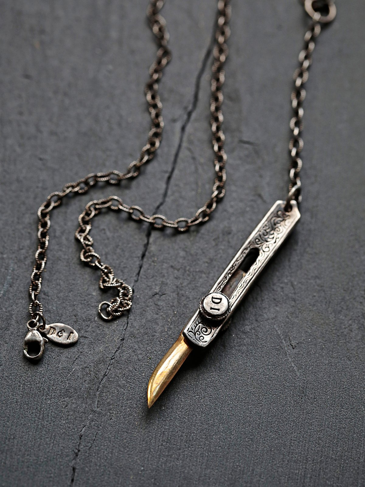 Filigreed Knife Necklace