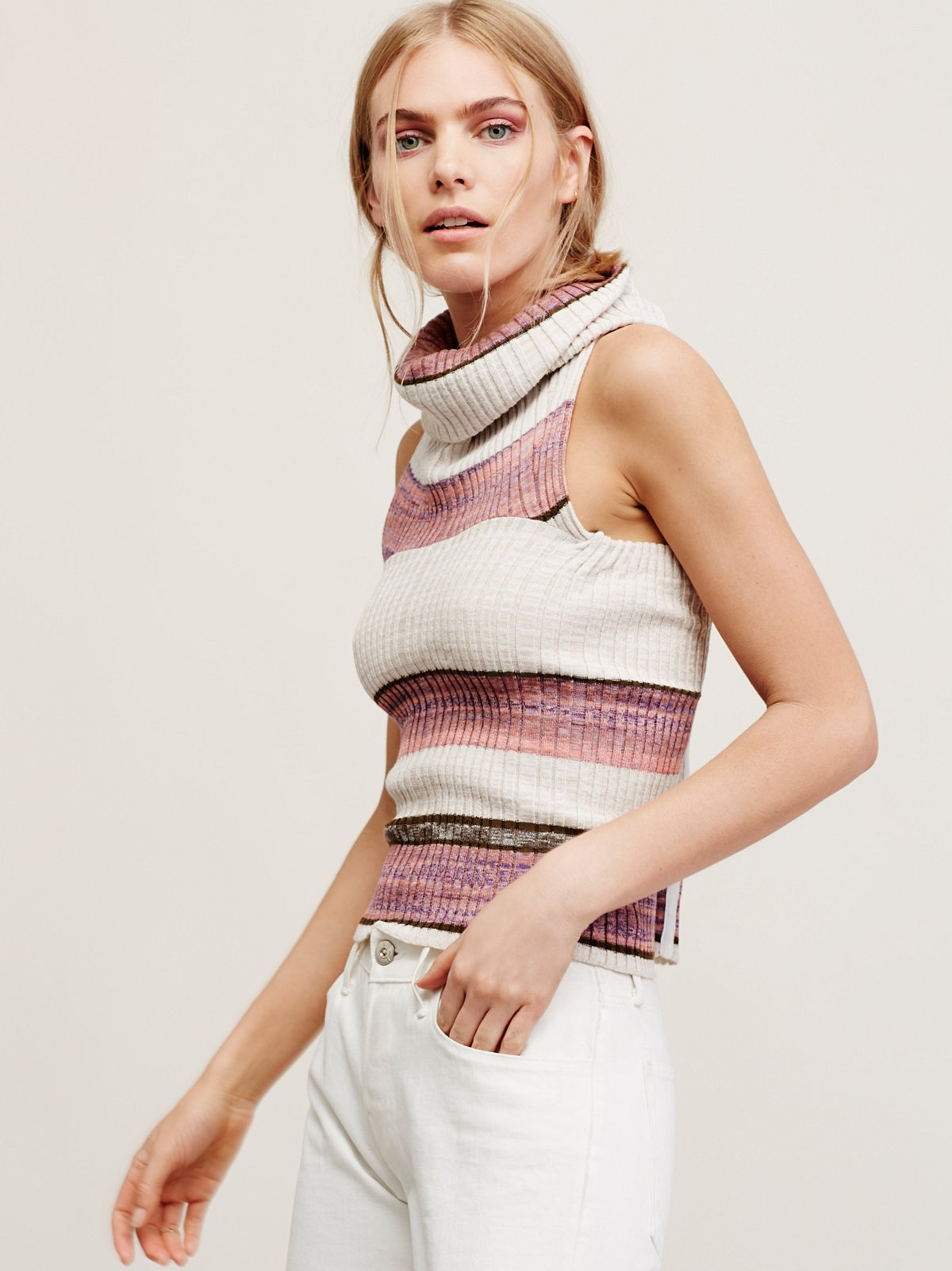 Carly Cowl Striped Top