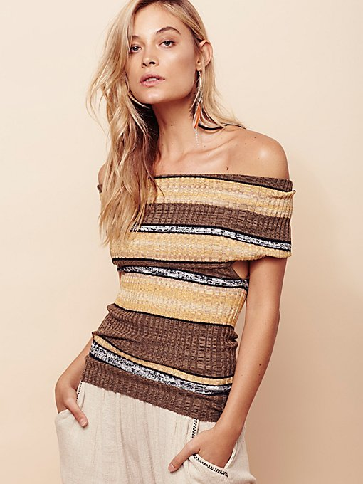Product Image: Carly Cowl Striped Top