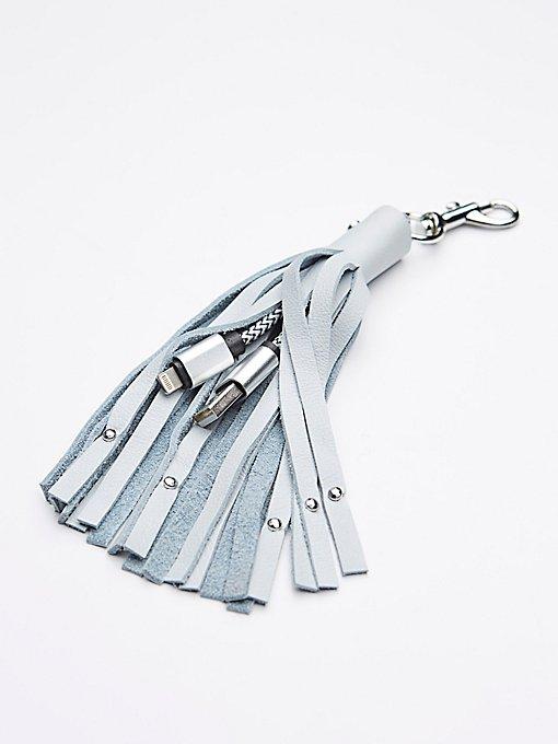 Product Image: 皮革钥匙链iPhone充电器
