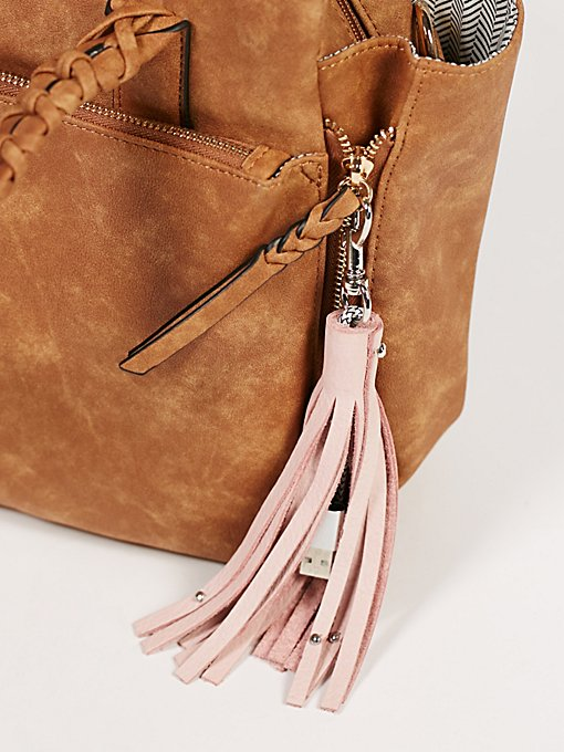 Product Image: Leather Keychain iPhone Charger