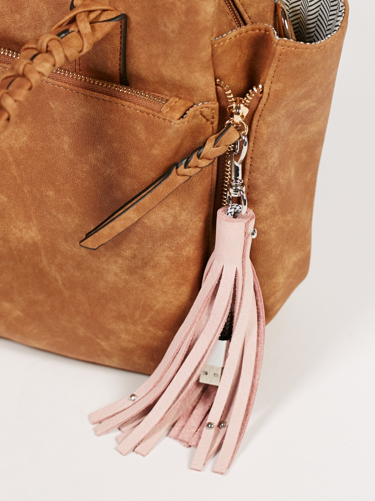 Leather Keychain iPhone Charger