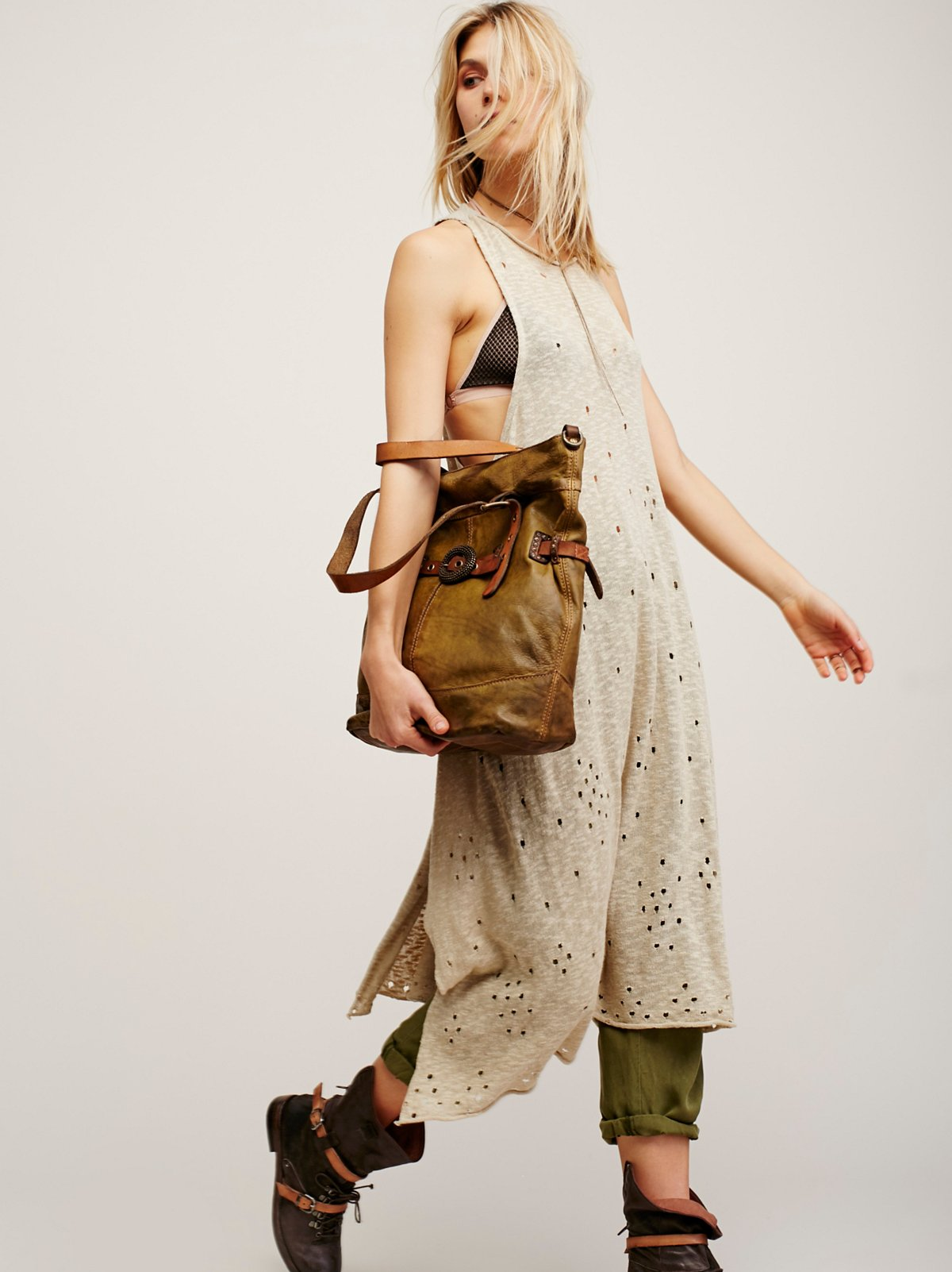 Marsala Distressed Tote