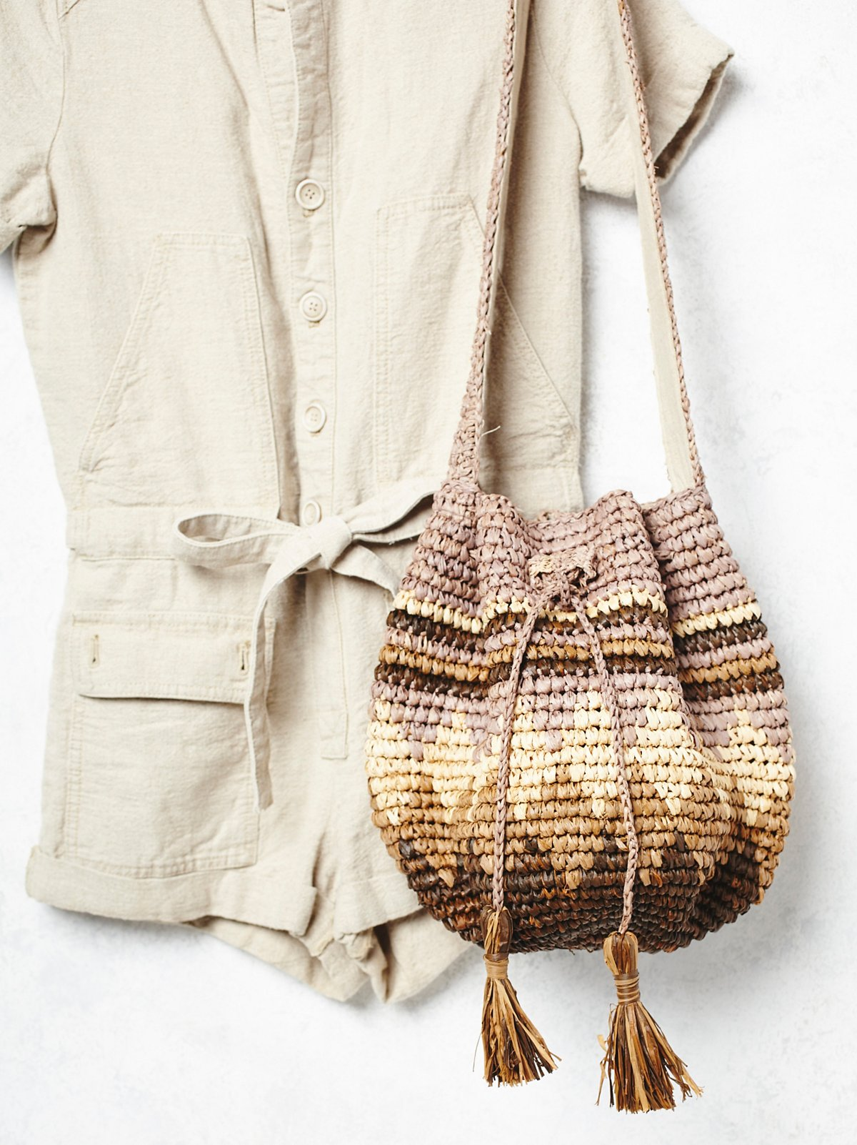 Rio Grande Straw Bucket Bag