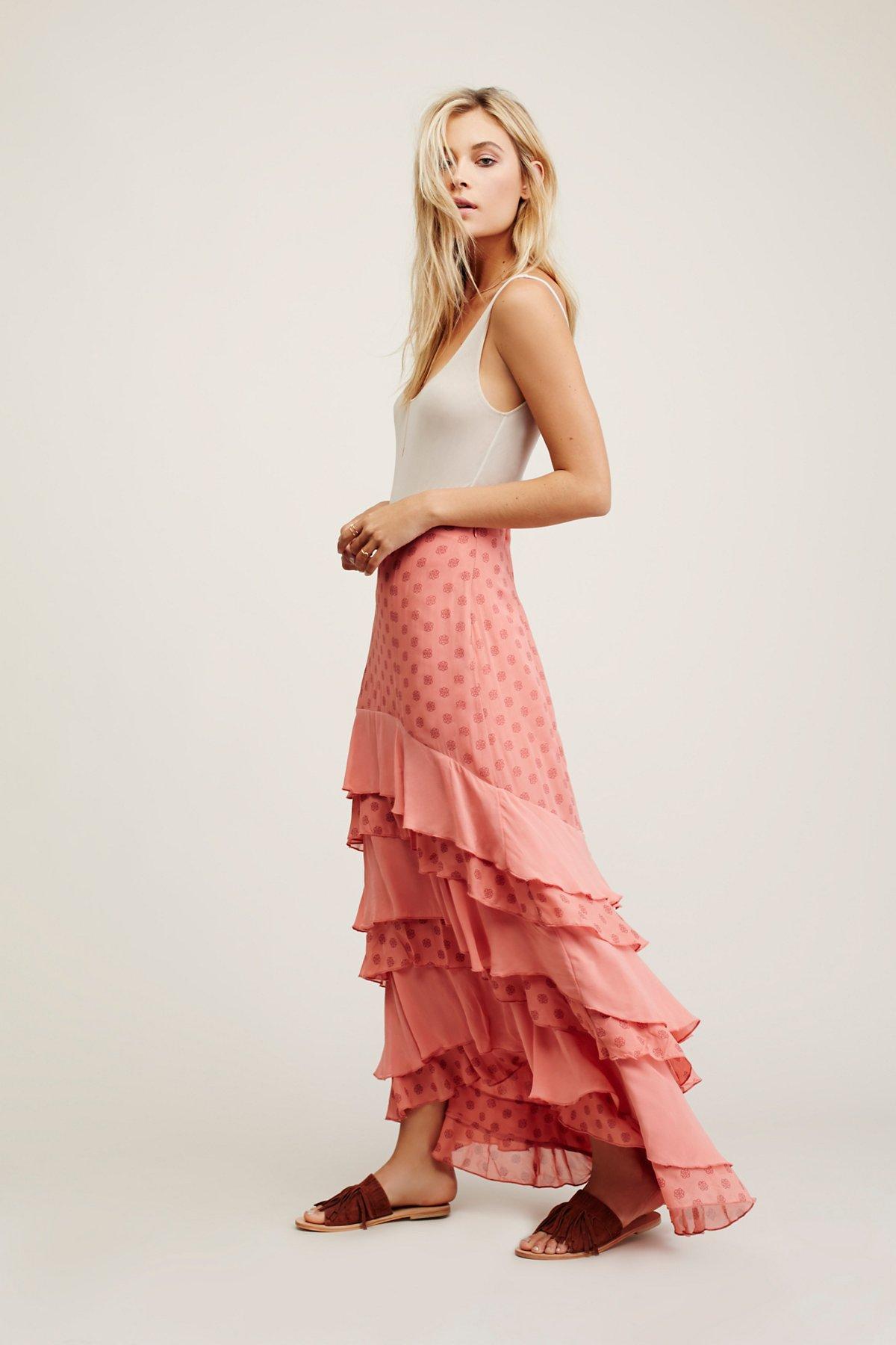 Wildflower Ruffle Maxi Skirt
