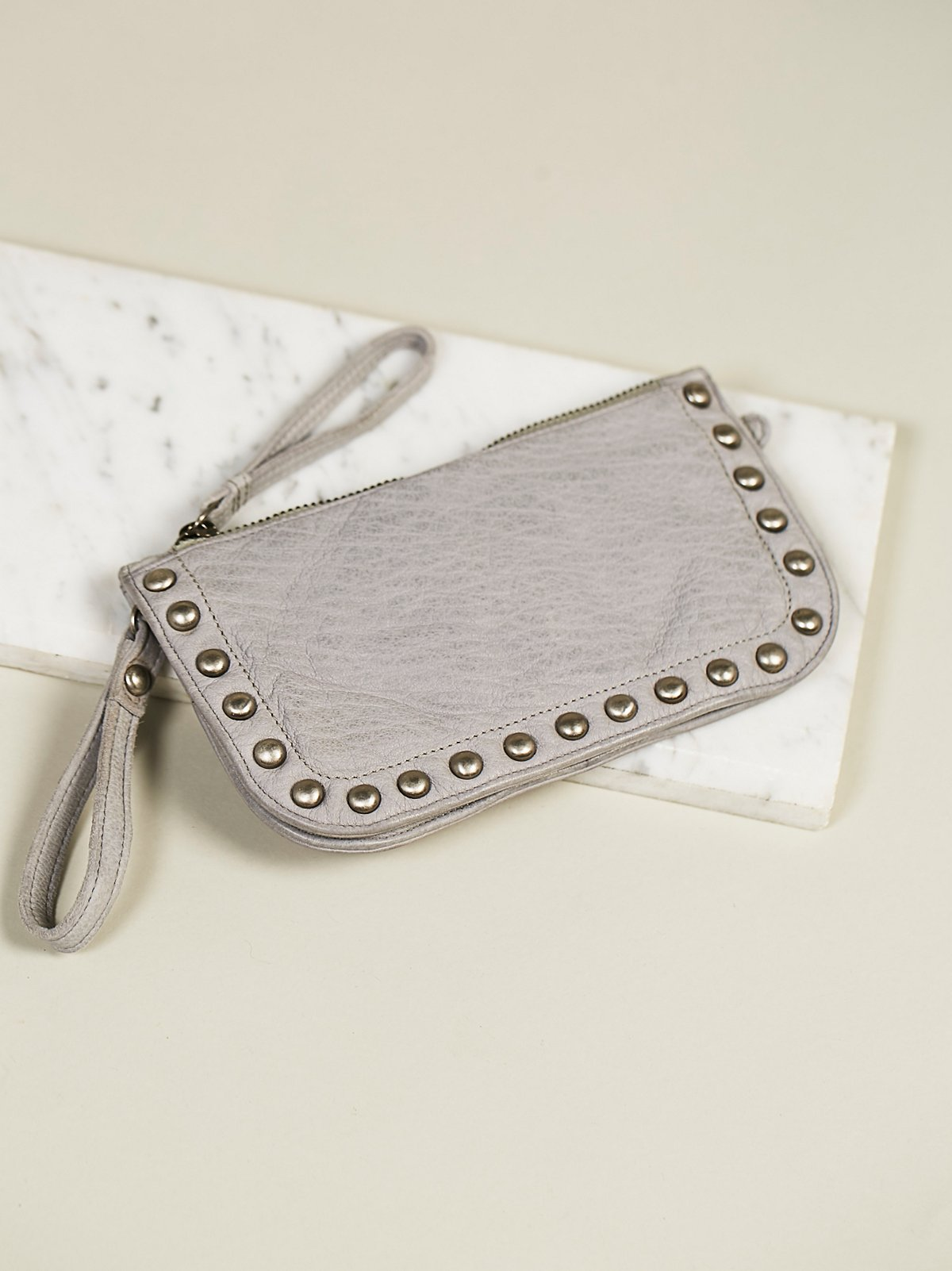 Distressed Studded Wallet