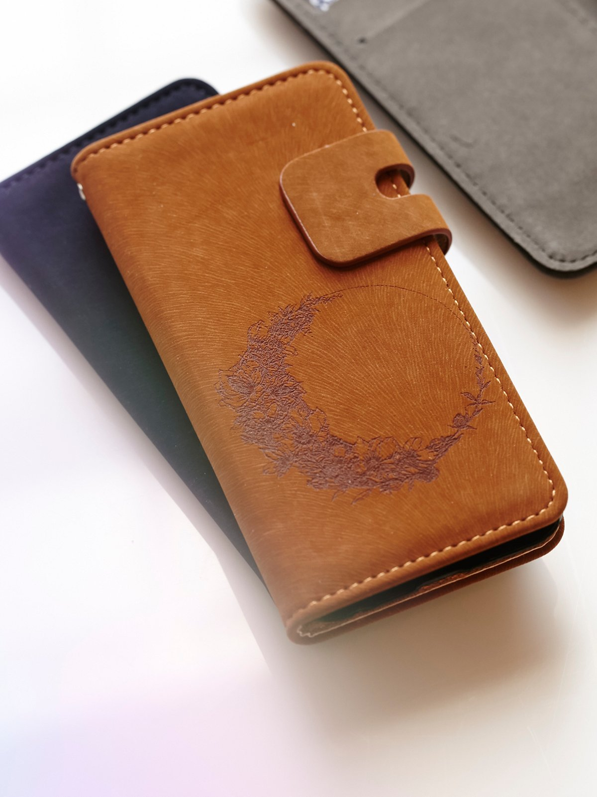 Suede Wallet iPhone Case