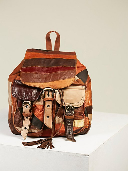 Product Image: Peru Patched Leather Backpack