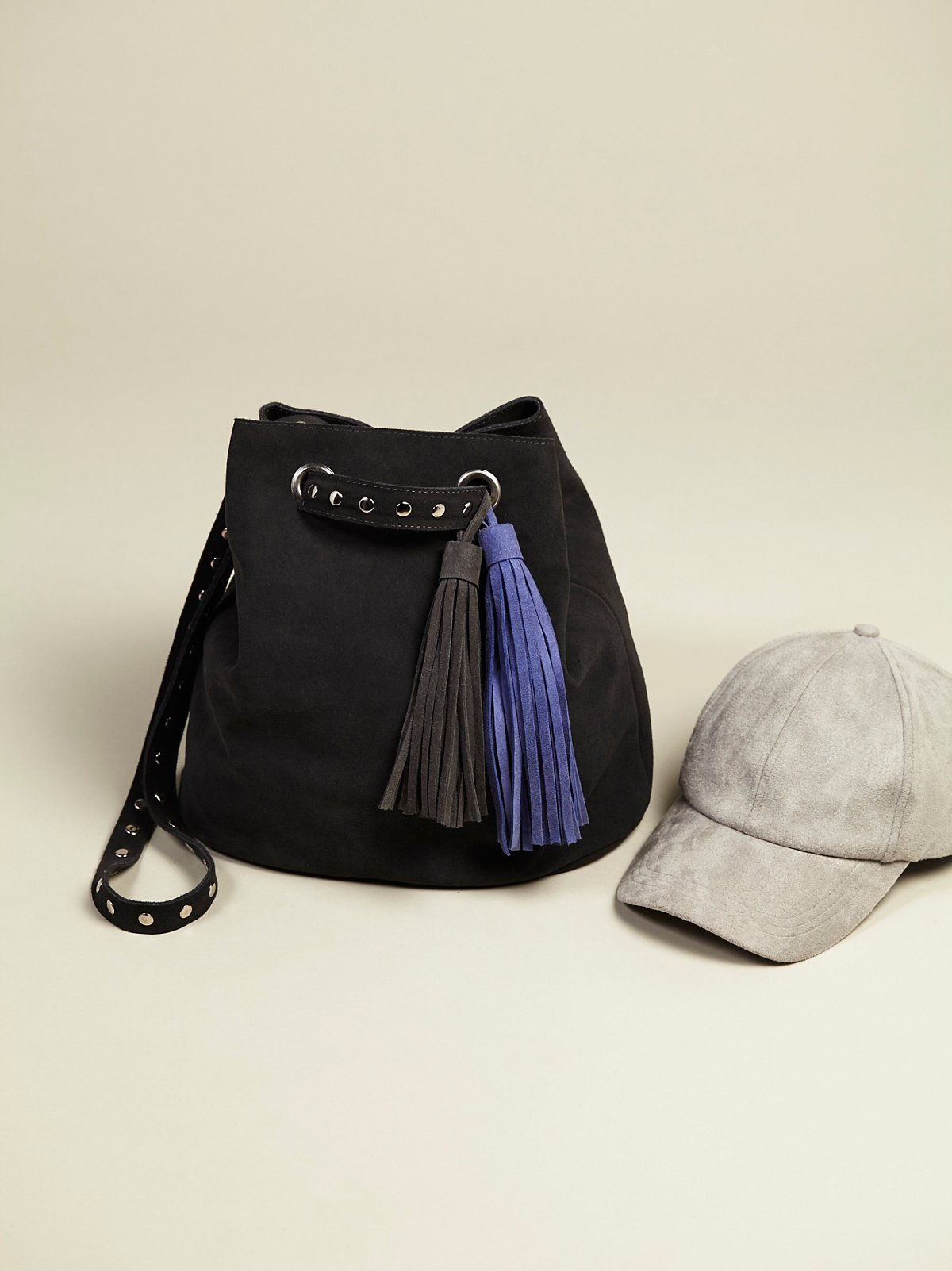 Mara Suede Bucket Bag