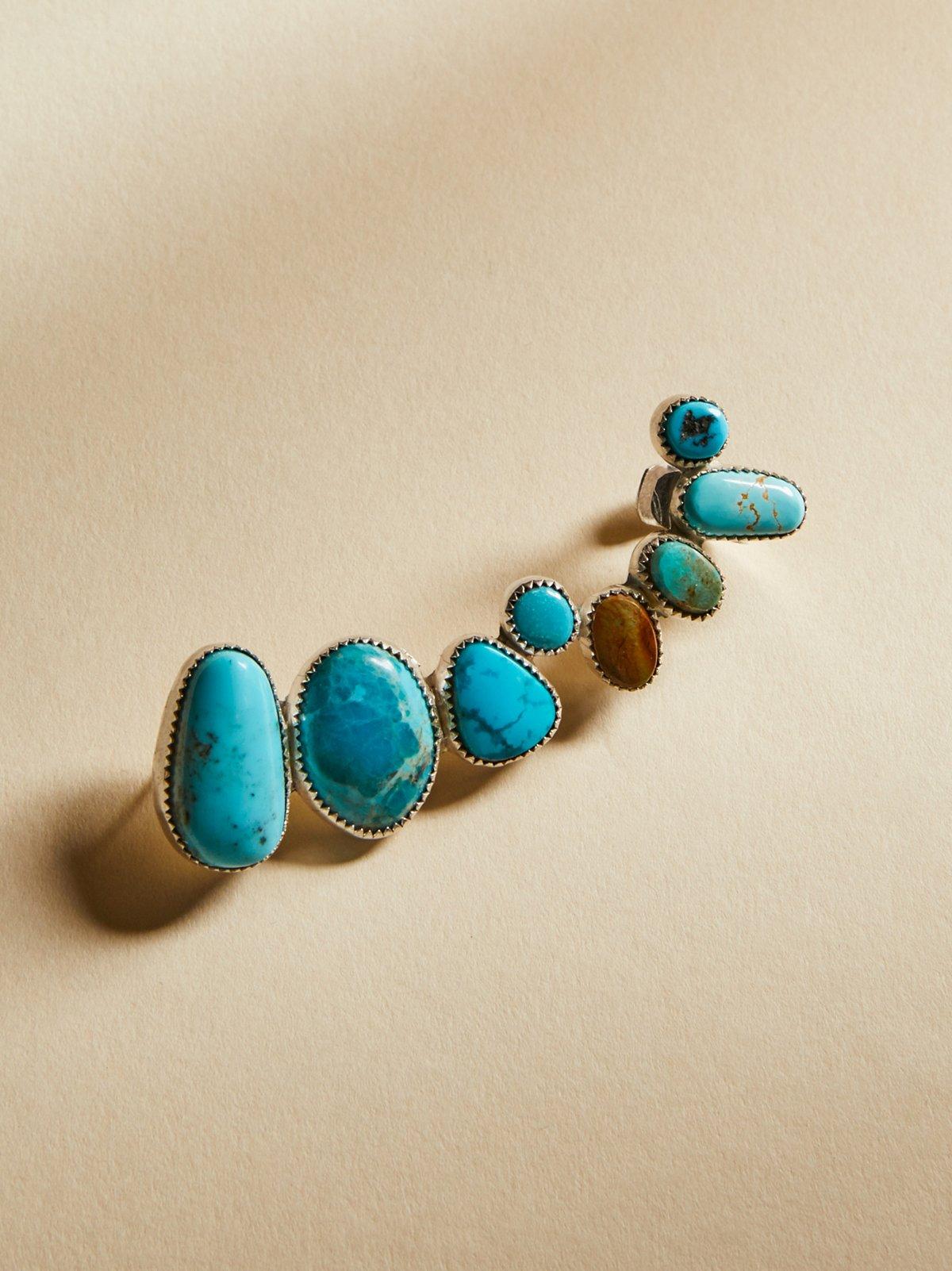 绿松石原石耳箍