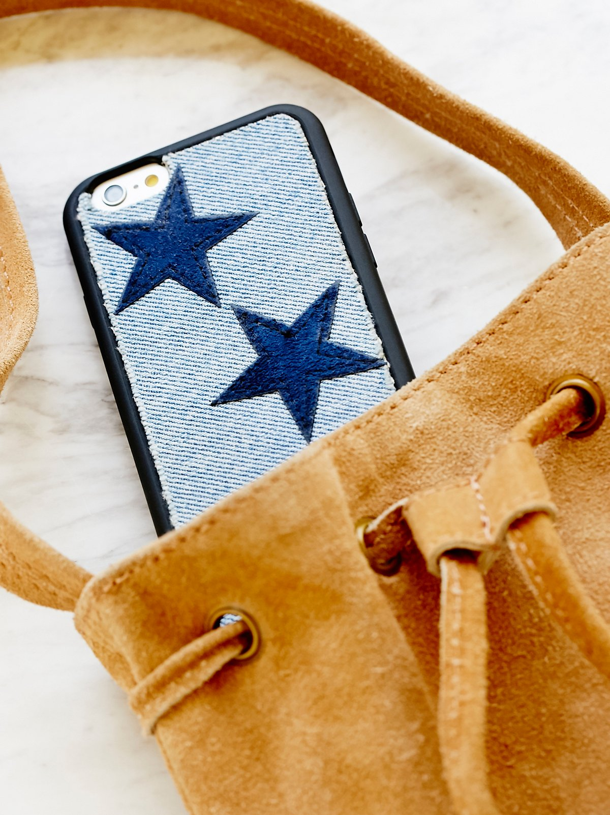 Denim X Leather Star Case