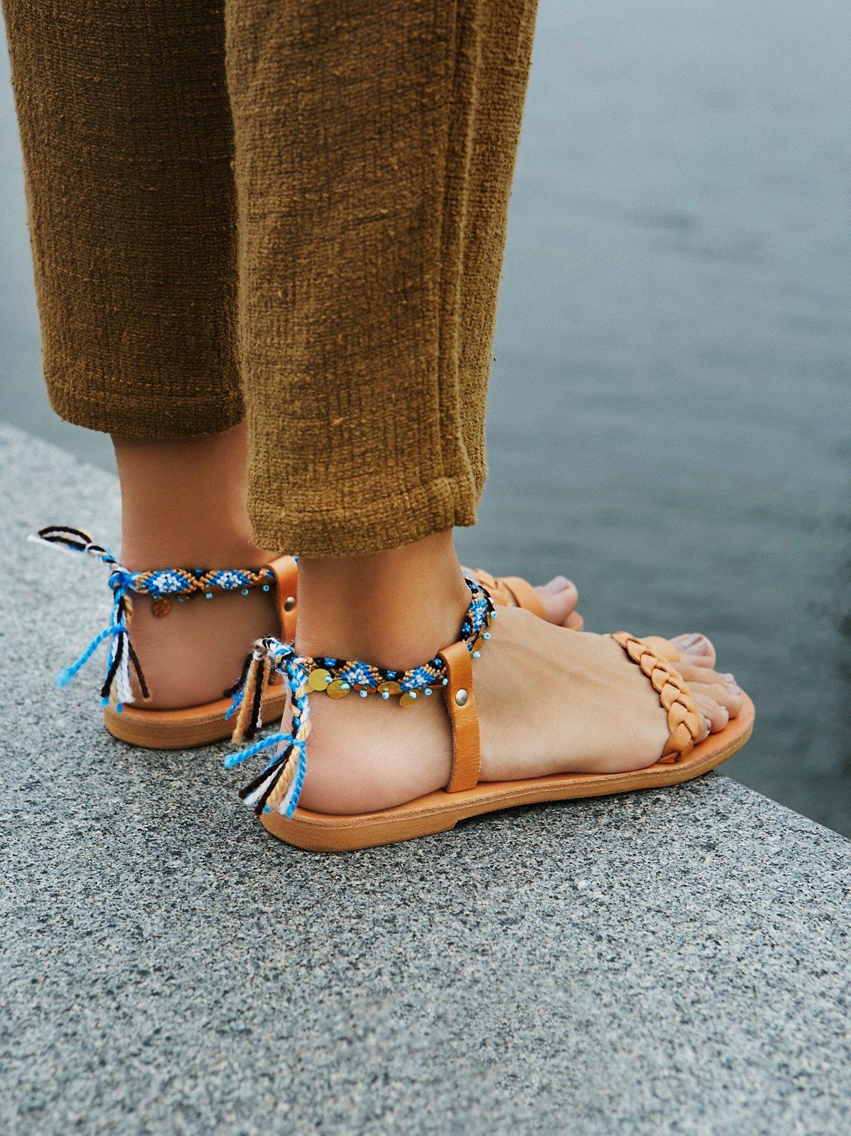 Athina编织凉鞋