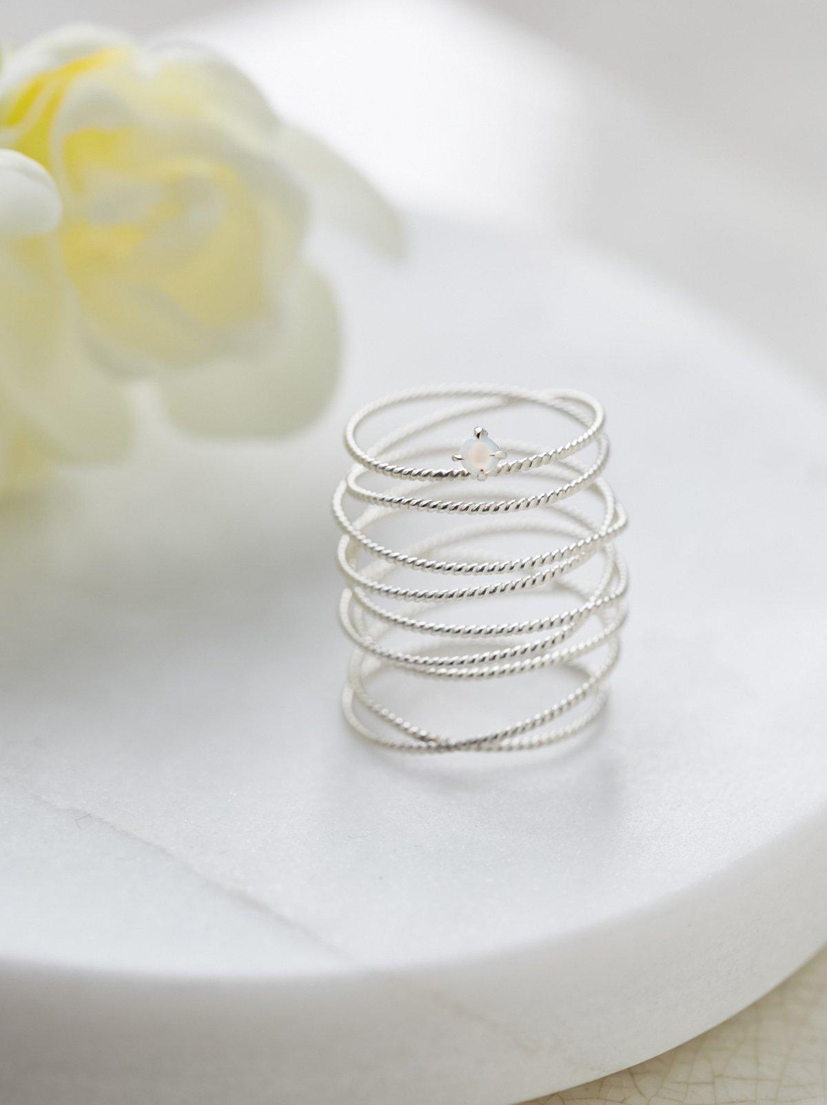 Amelia Opal Wrap Ring