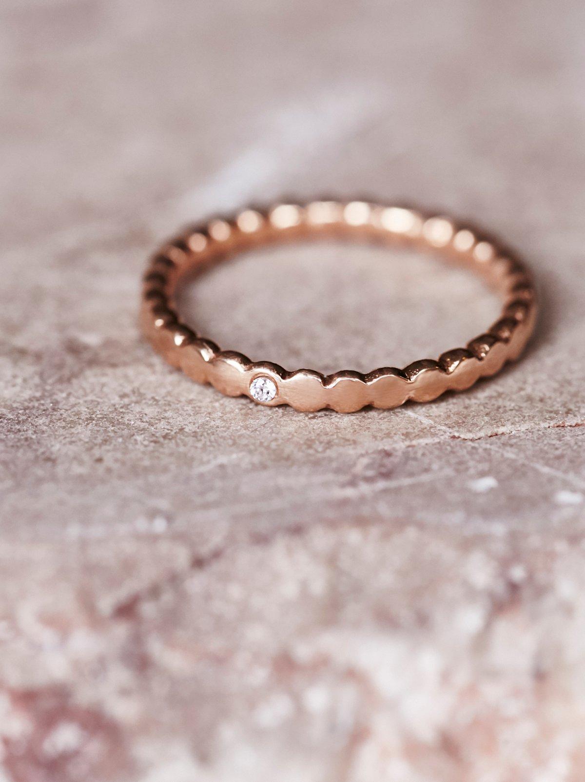 Tiny Diamond Band Ring