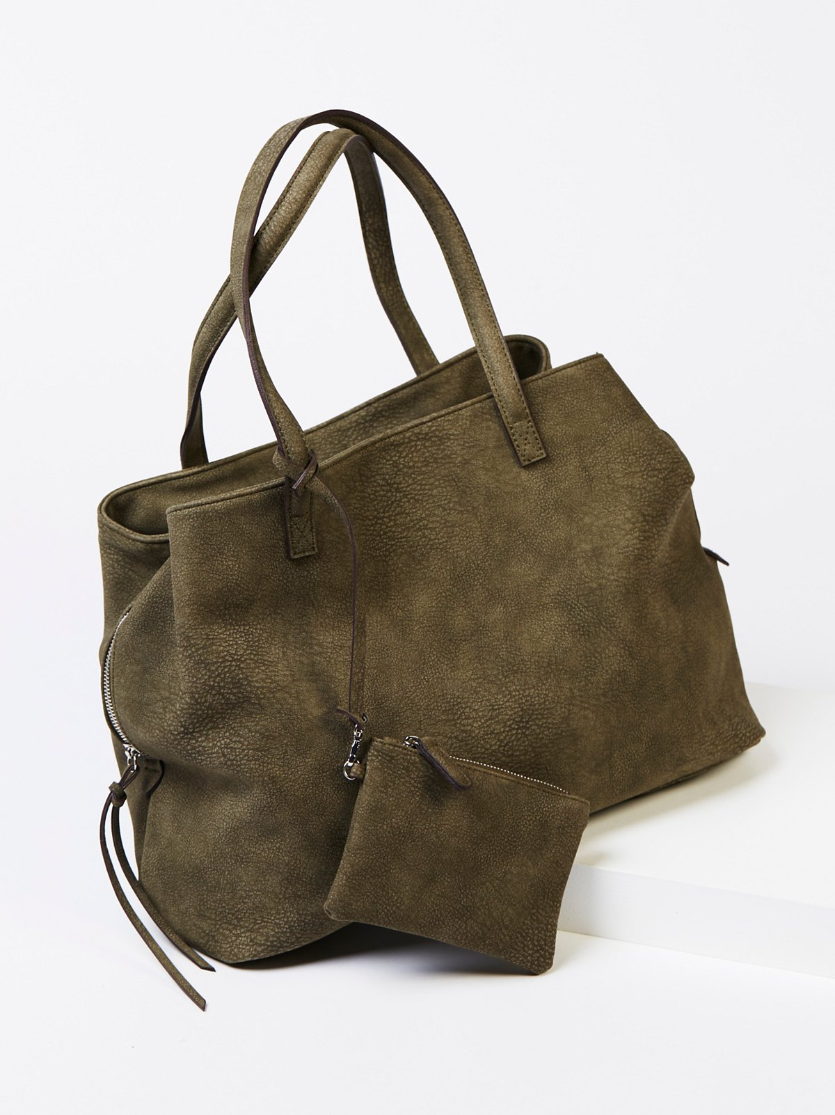 Triple Pocket Slouchy Tote