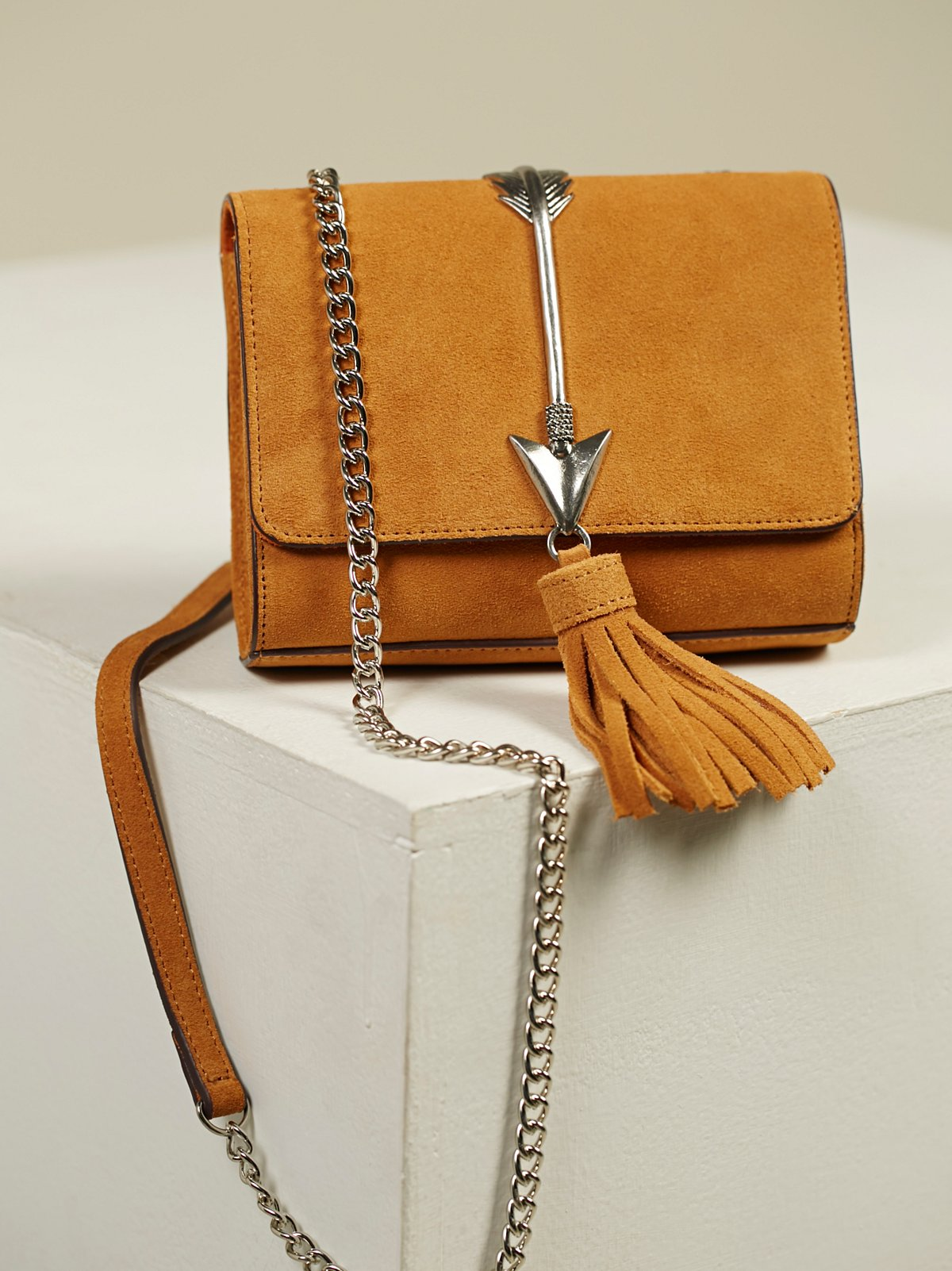 Arc Suede Crossbody Bag