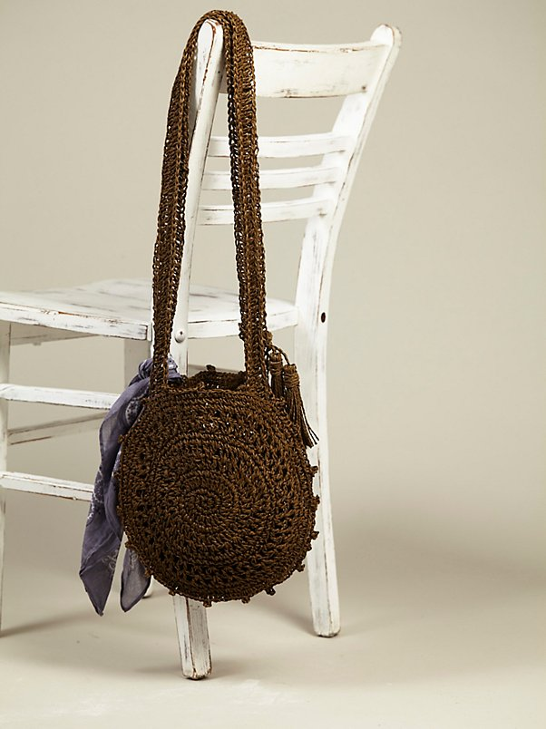 Straw Cantine Crossbody Bag