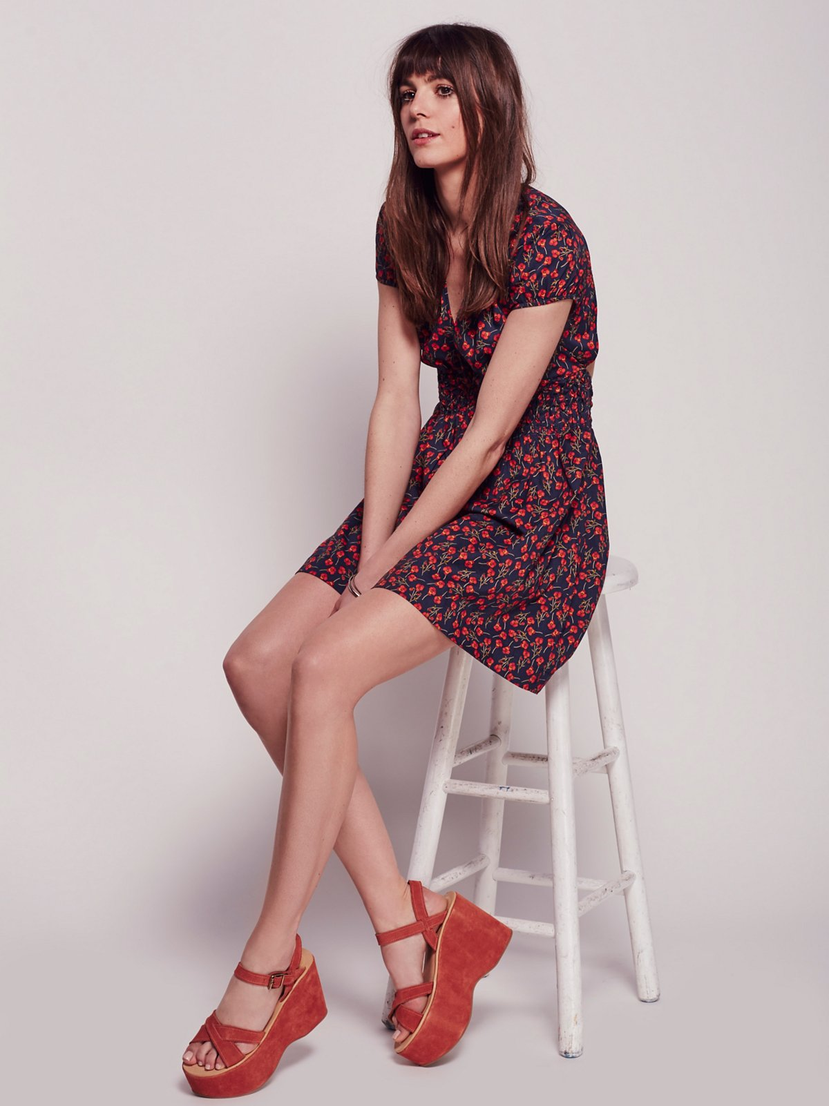 Liberty Red Floral Dress