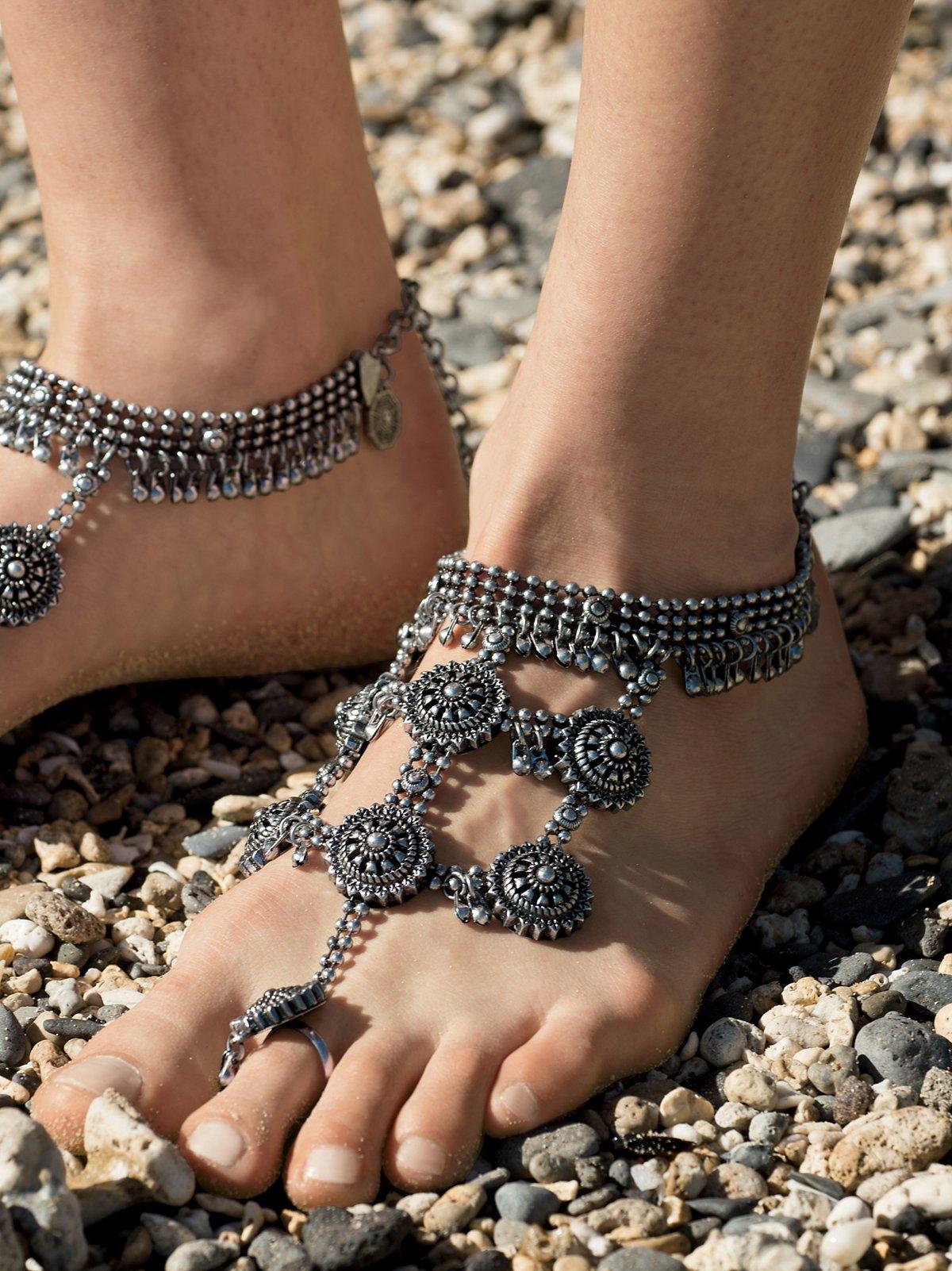 Boho Goddess Barefoot凉鞋