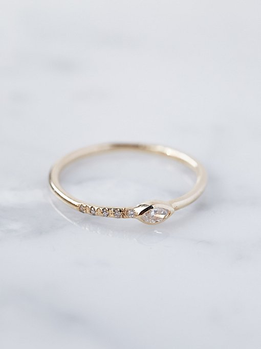 Product Image: 14K Gold Diamond Gravity Ring