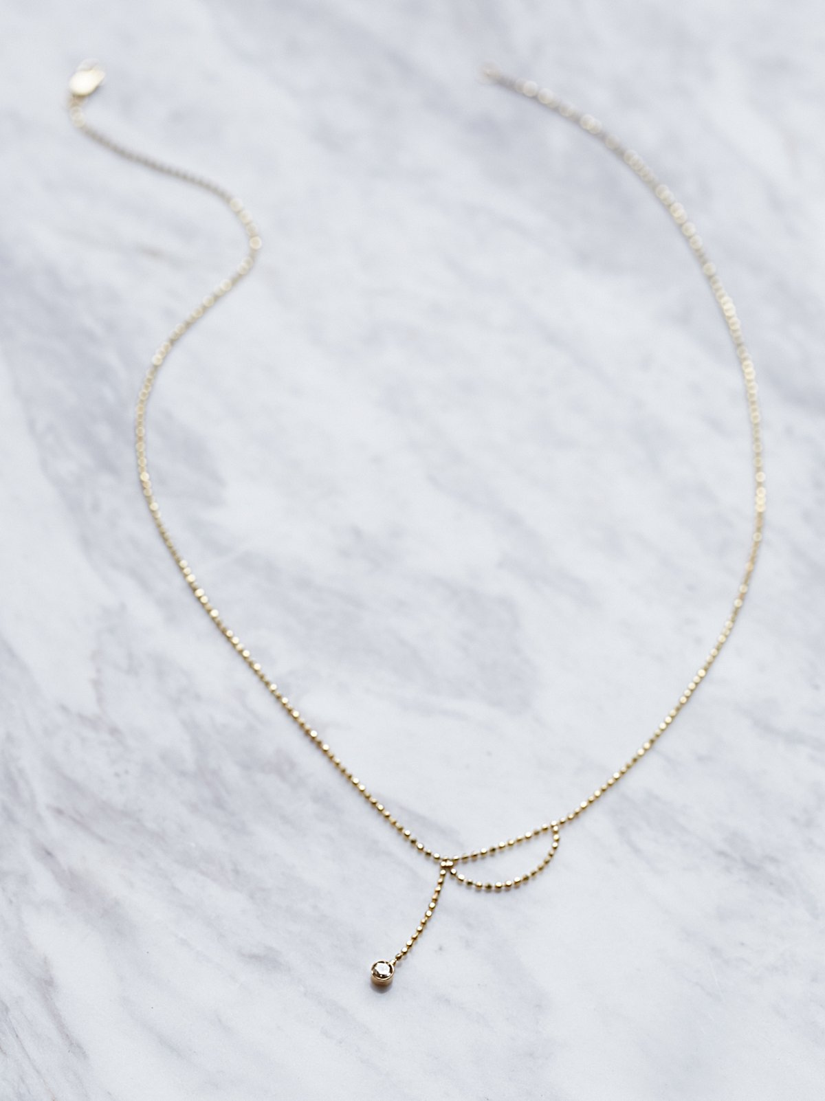 14k Ball Chain Diamond Necklace