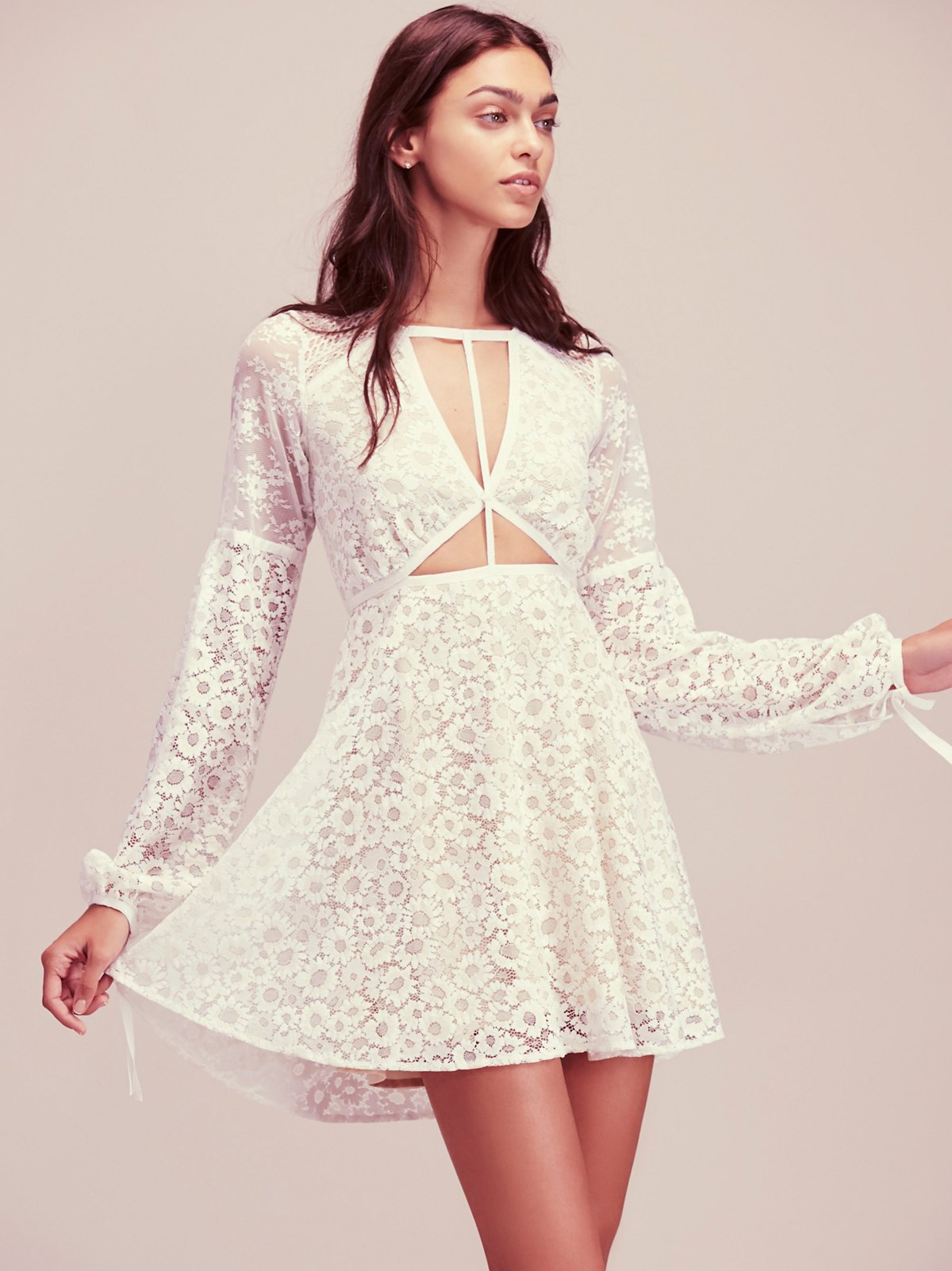 Textured Lace Mini Dress