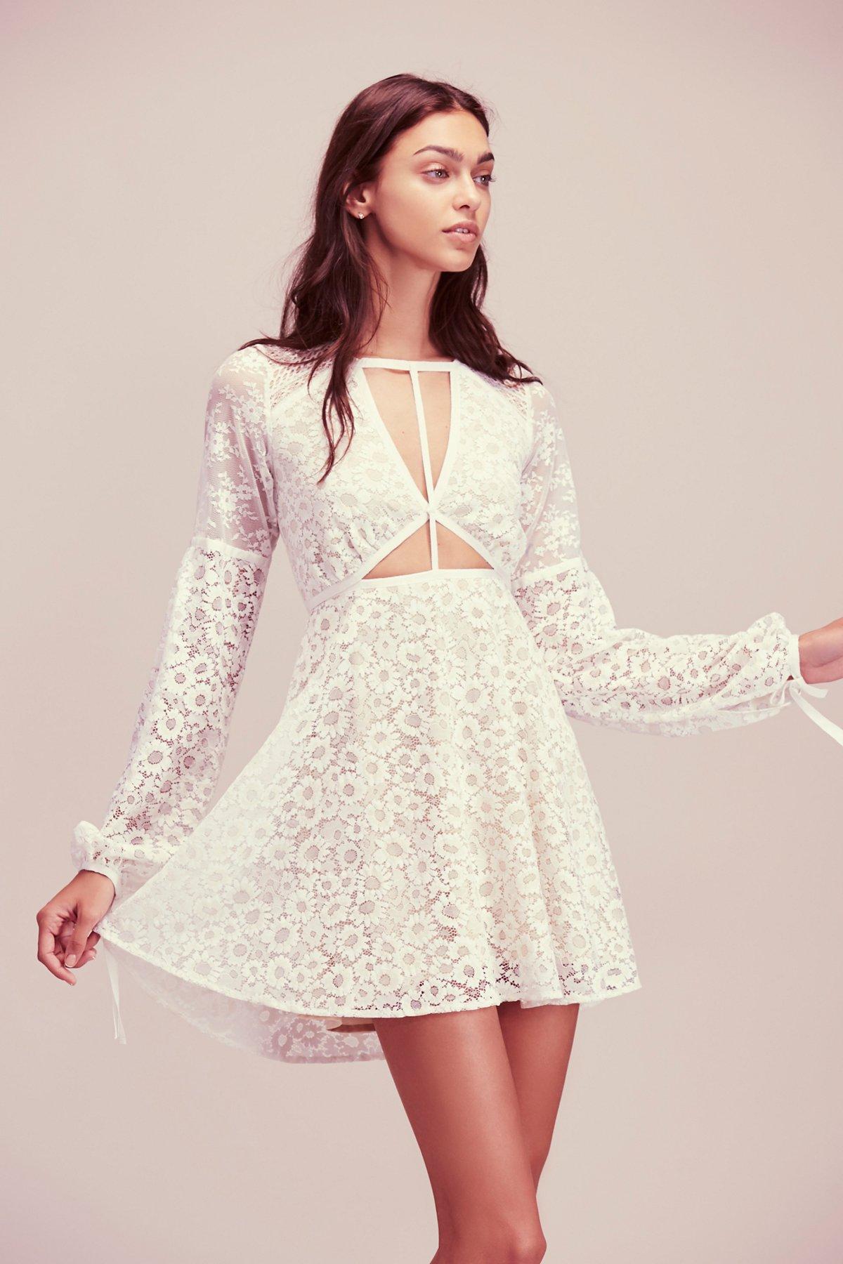 Textured Lace Mini Dress