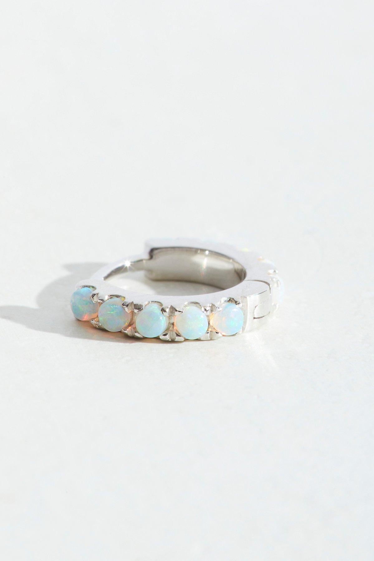 Opal Eternity Hoop Earring