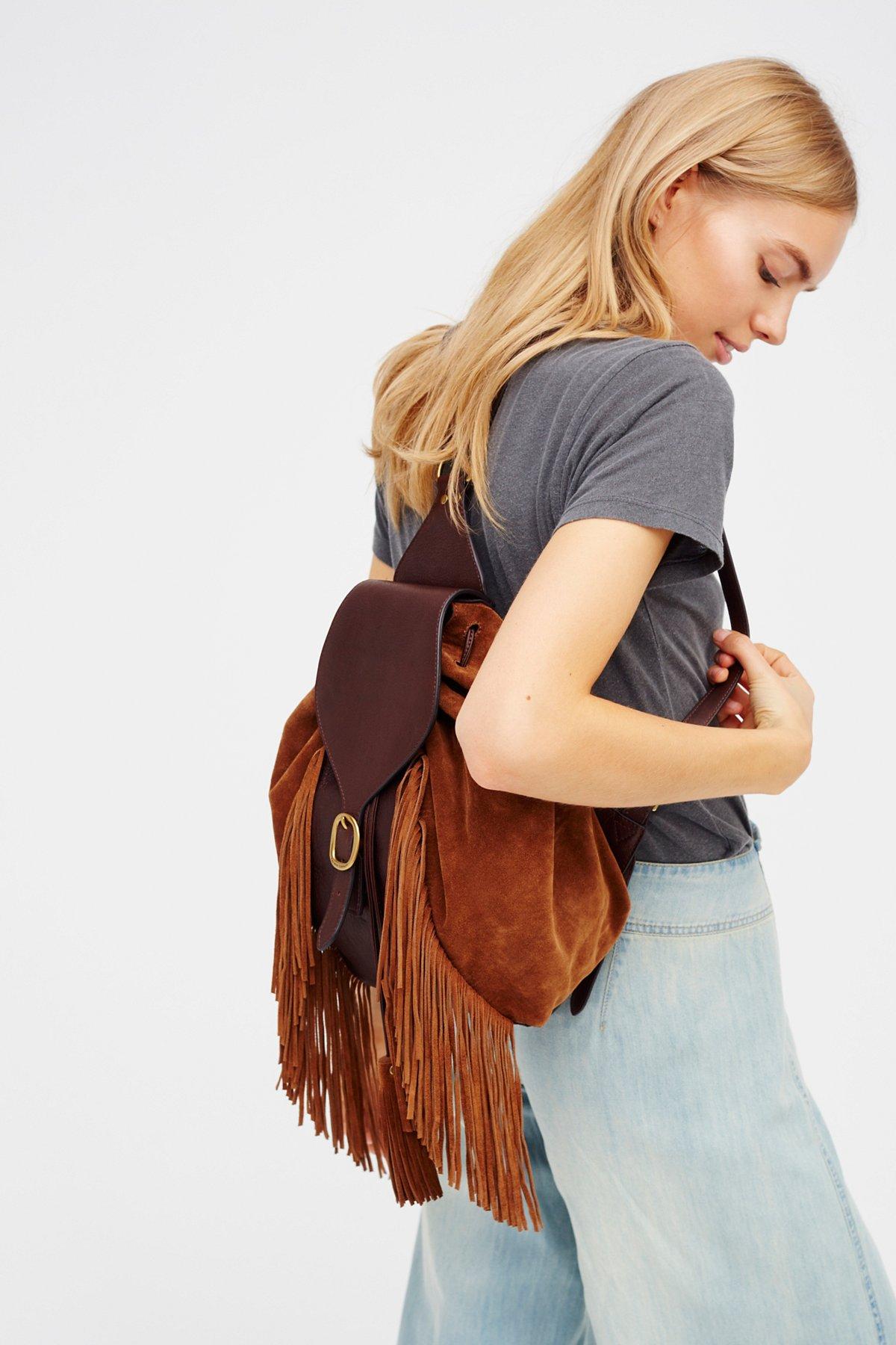 Clara Fringe Backpack
