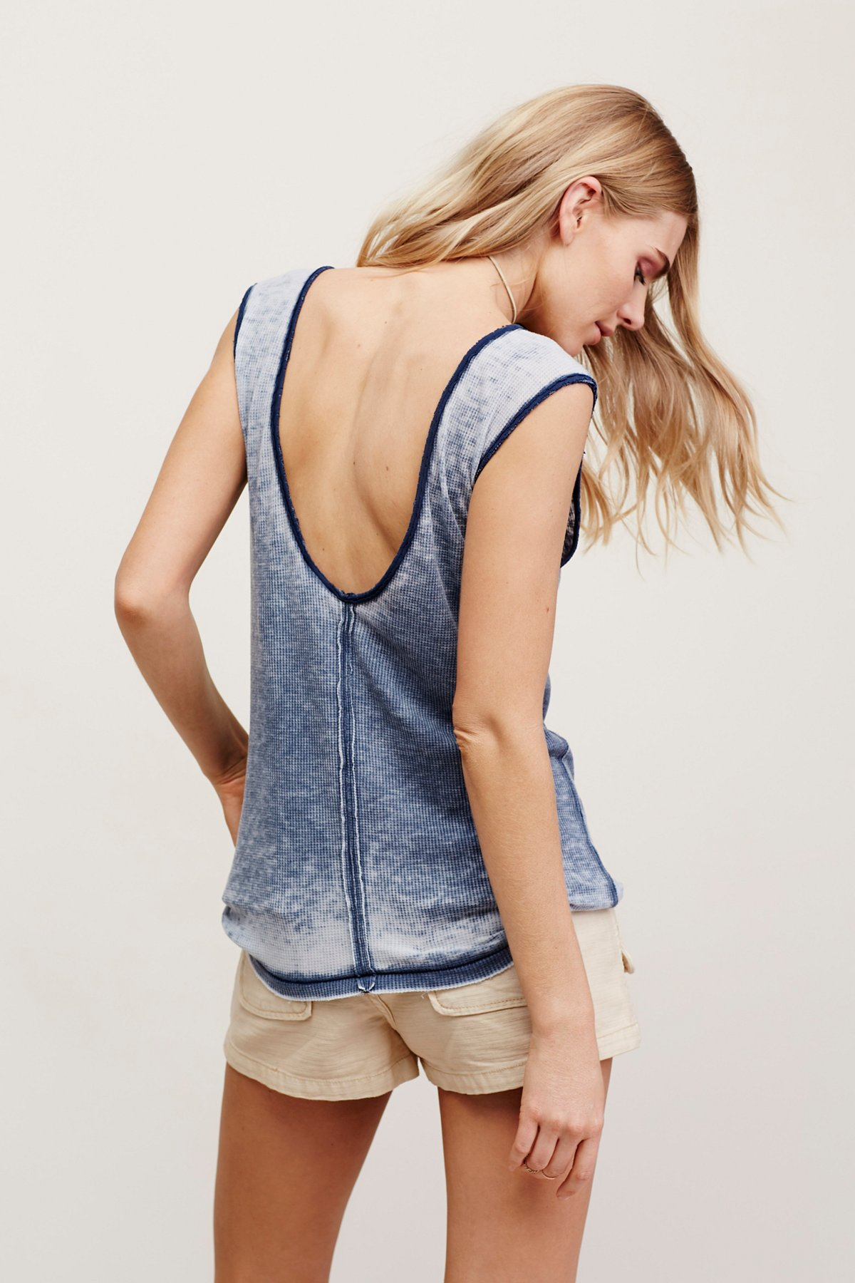 Washed Thermal Muscle Tank