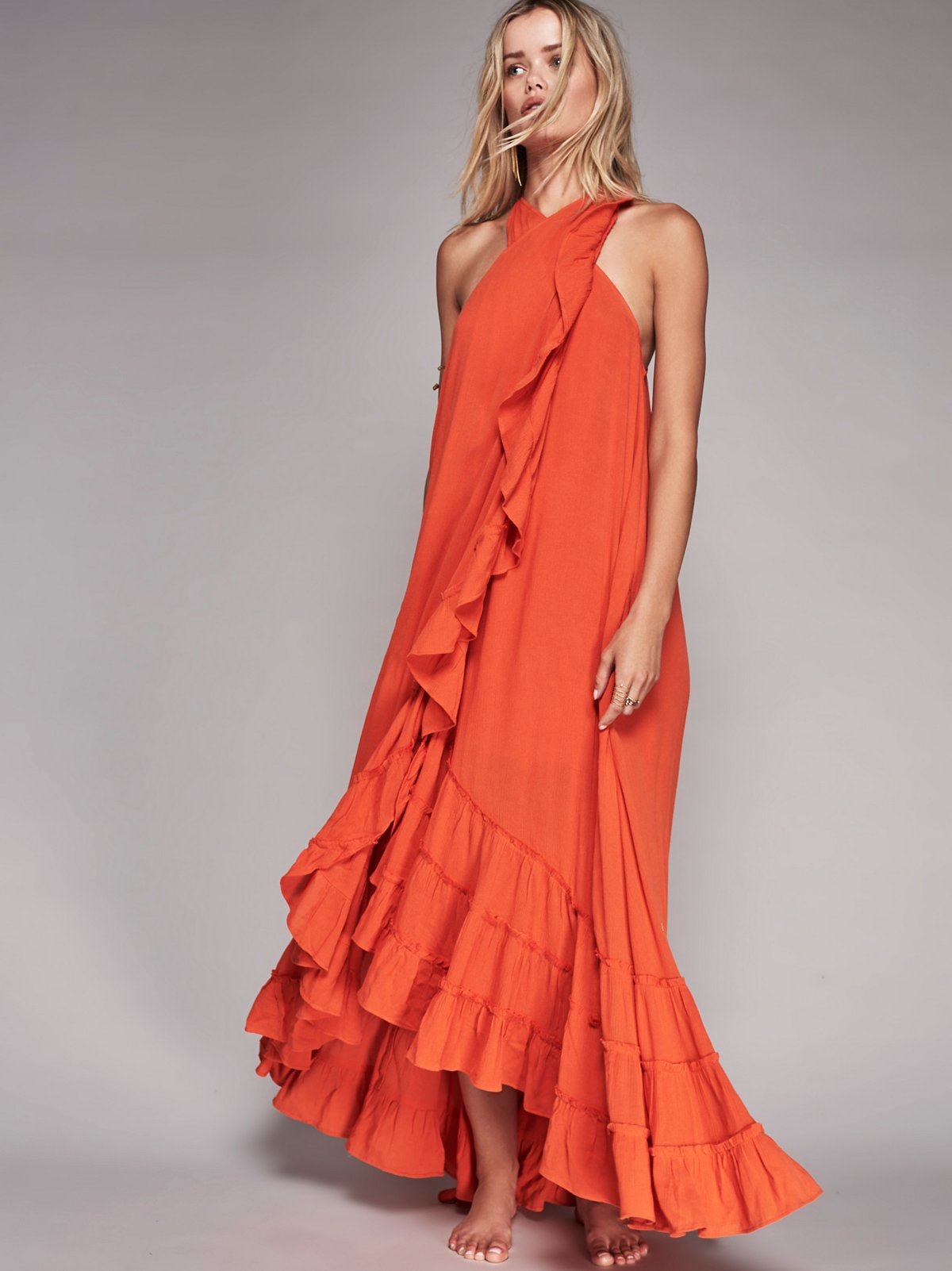 围裹式长连衣裙