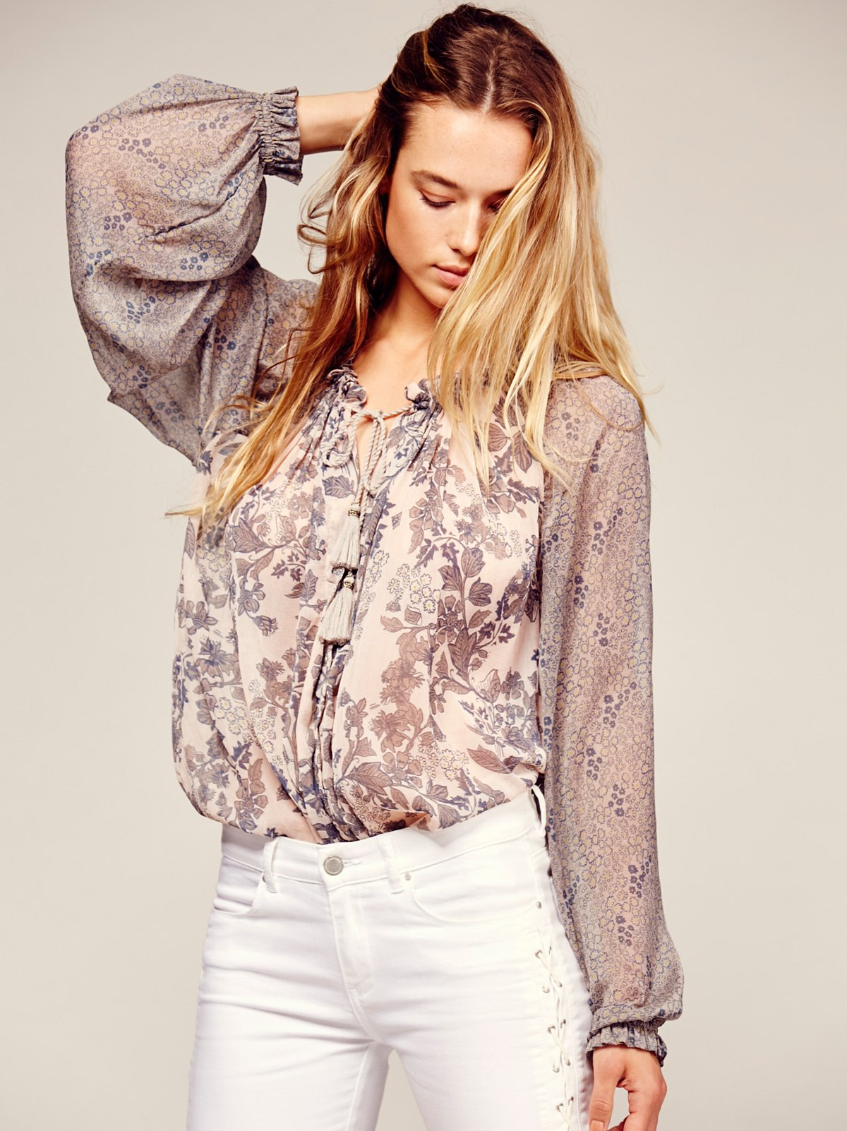 In A Haze Printed Blouse