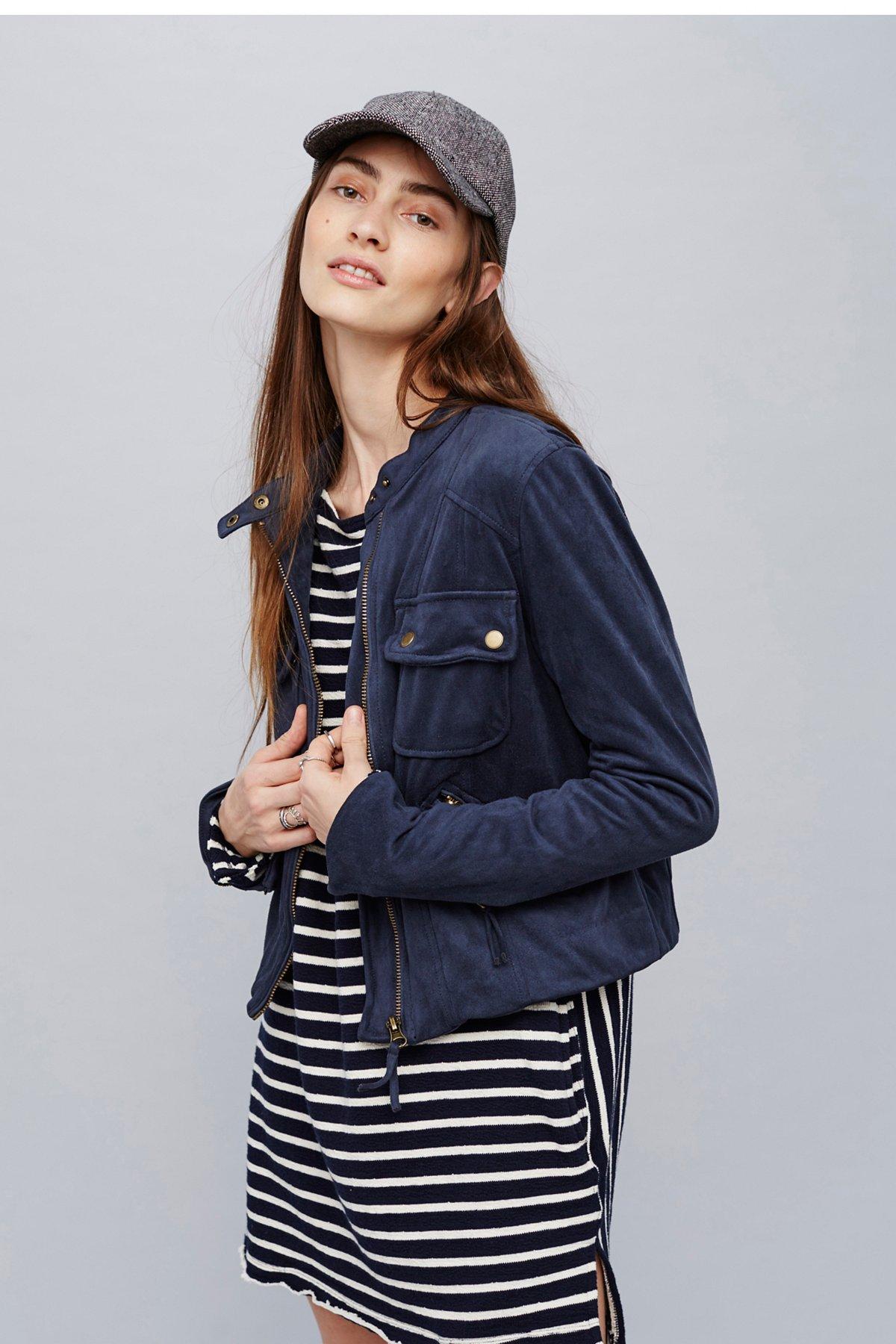 Mia Faux Suede Jacket