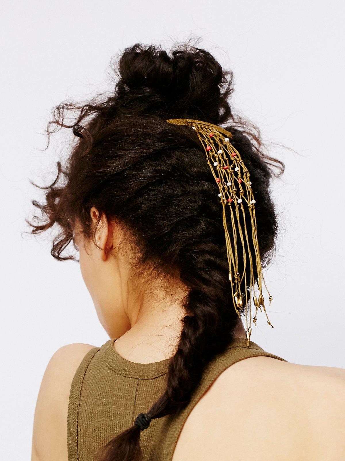 线结珠饰发夹
