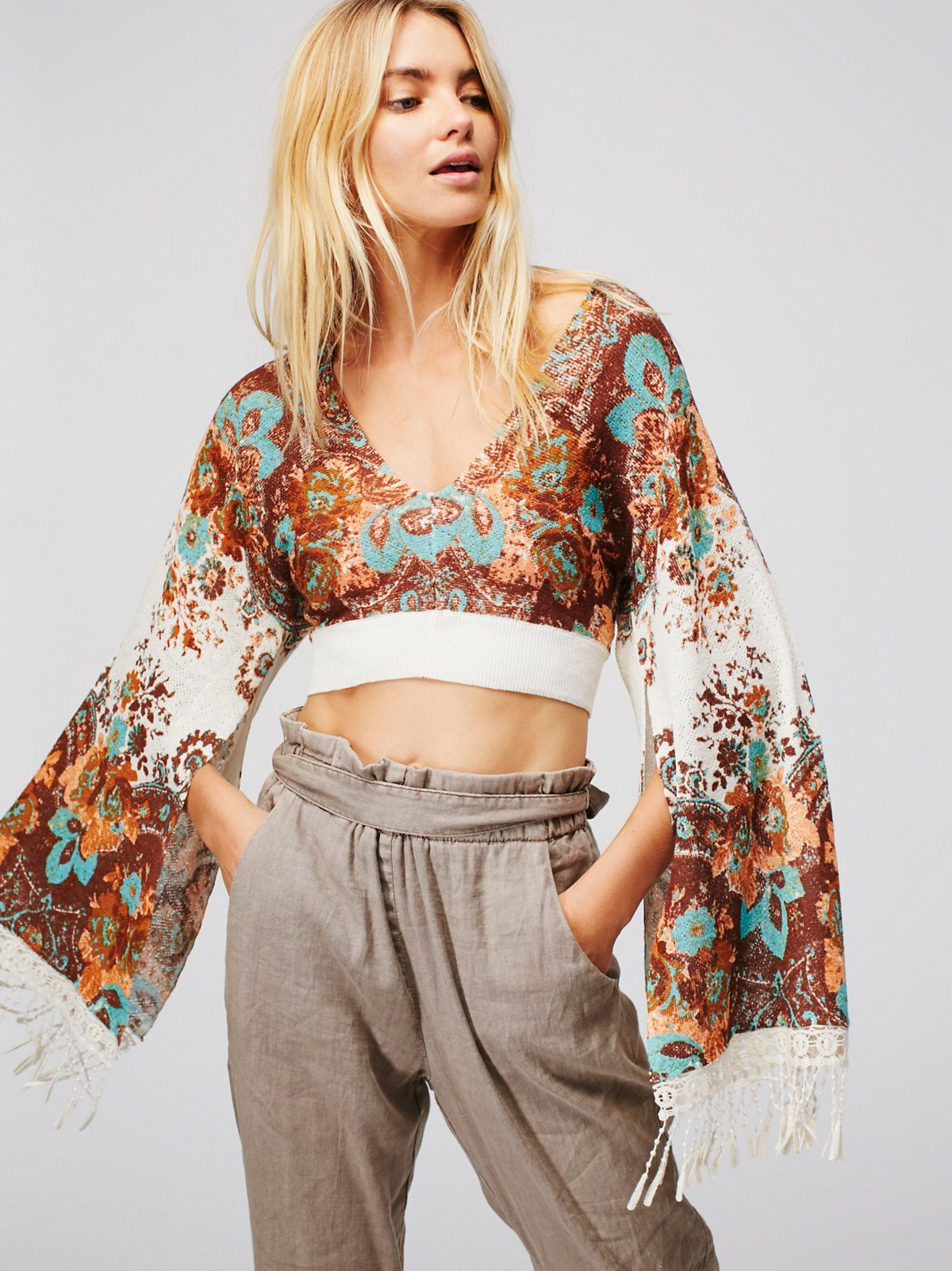Meet Me At Woodstock Cropped Sweater