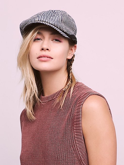 Product Image: Newsie Stripe Ivy Cap