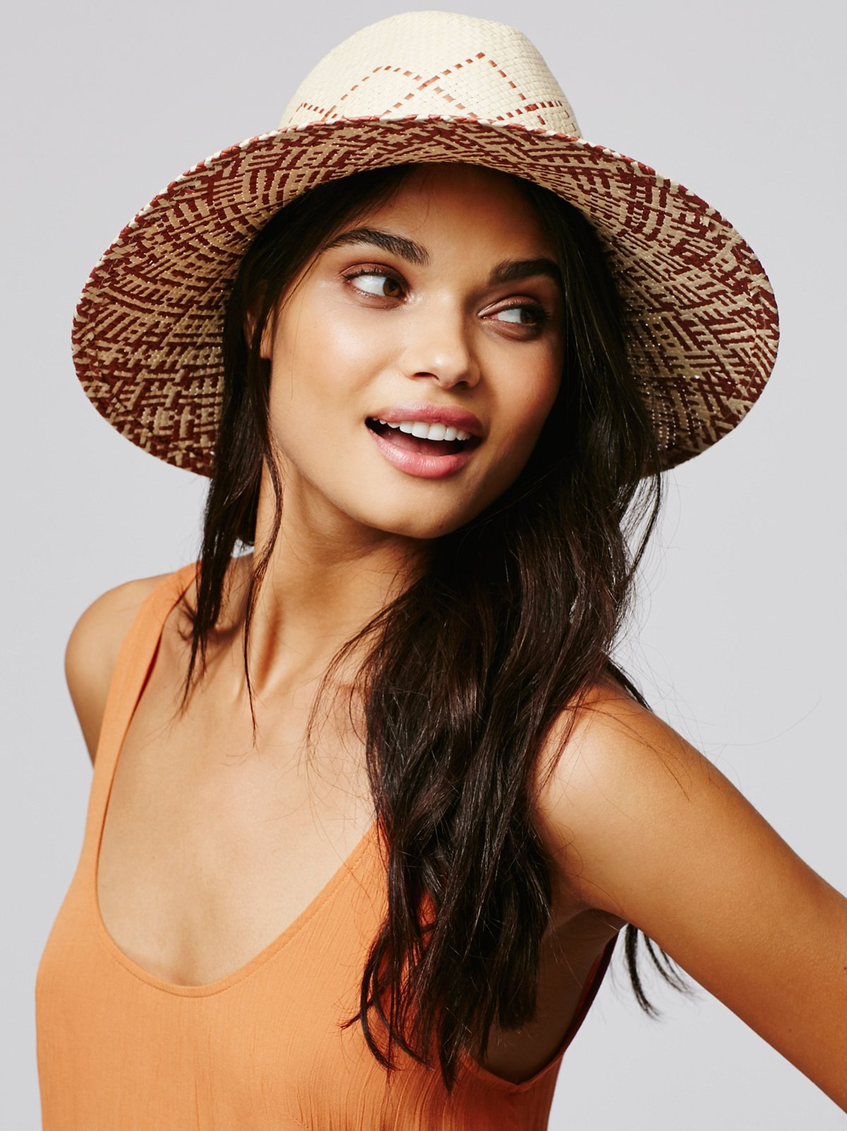 Tuscan Two-Tone Straw Hat