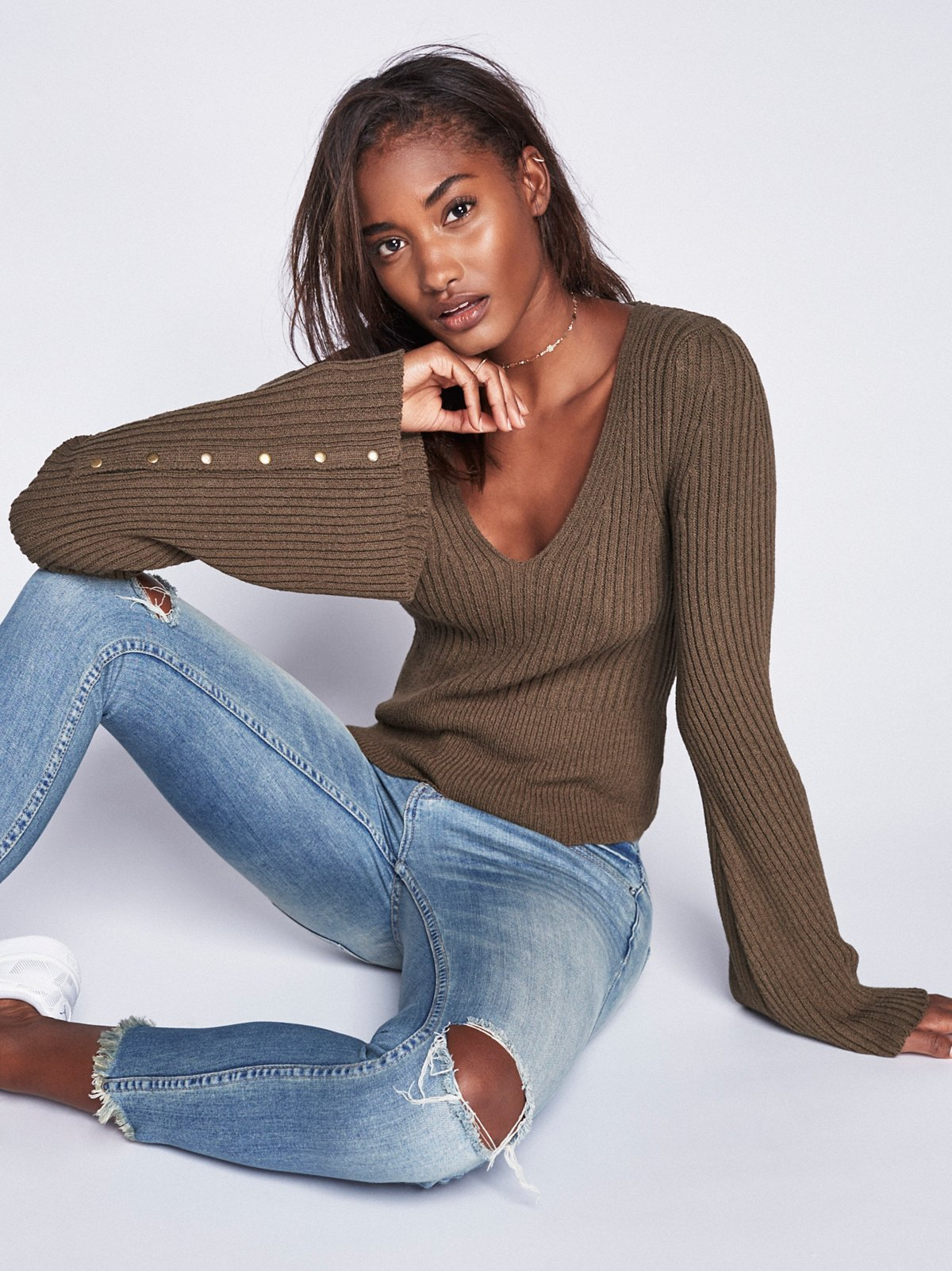 Viola Double V Sweater