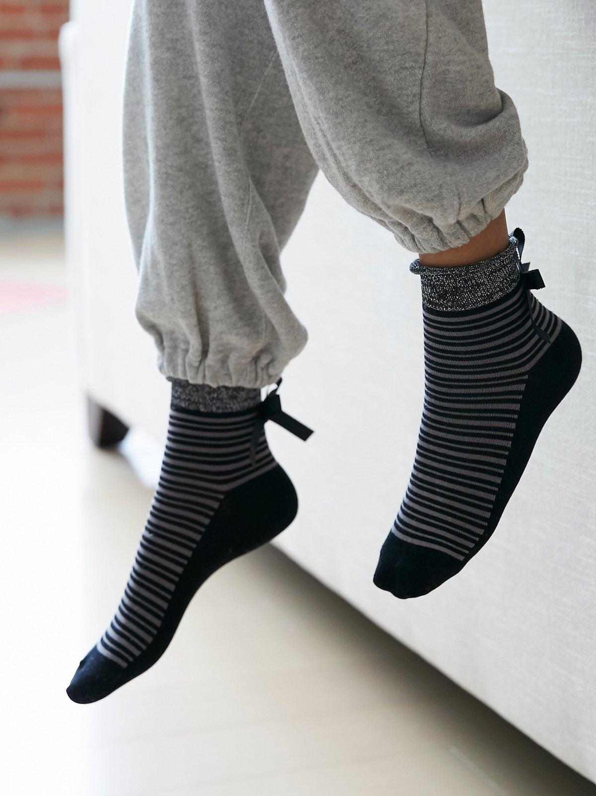 Parissi条纹短袜