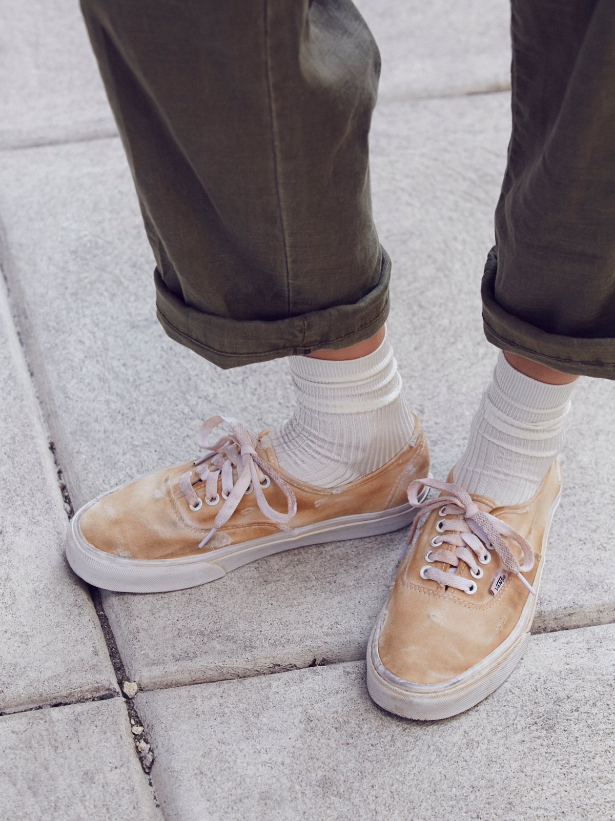 Hand-Dyed Authentic Low Sneakers