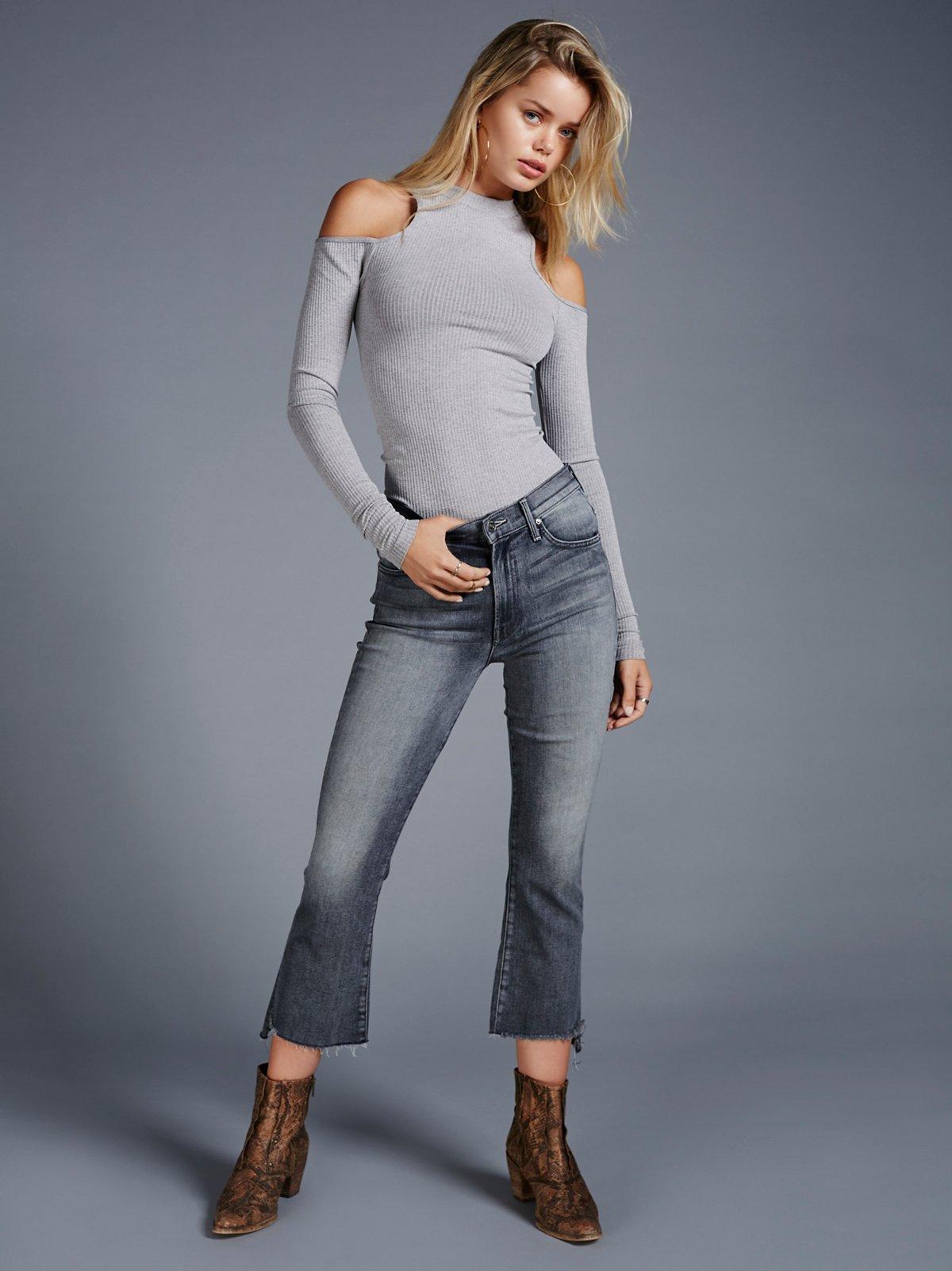 Insider Step Crop Fray Jeans