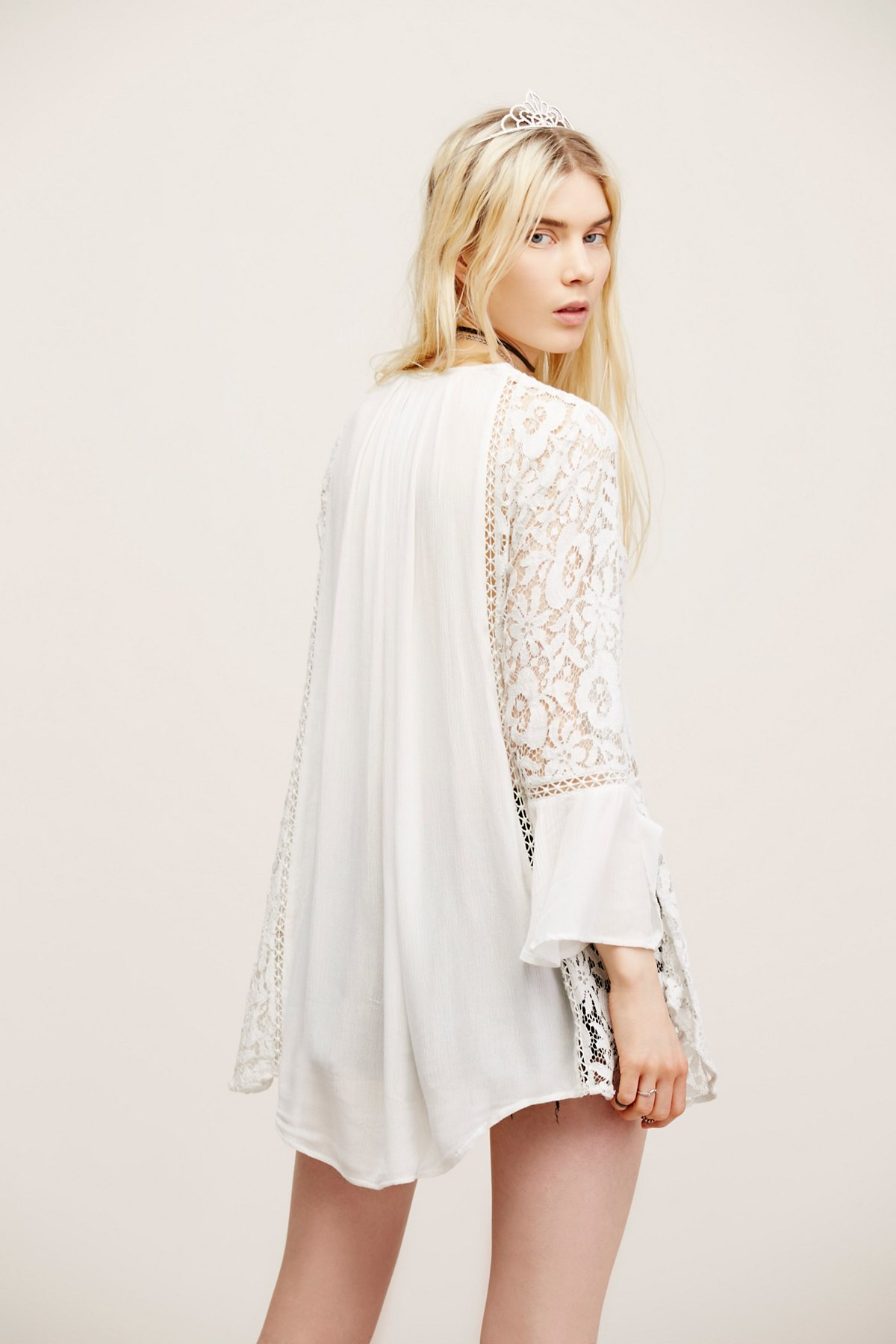 Lovestoned Lace Buttondown Top