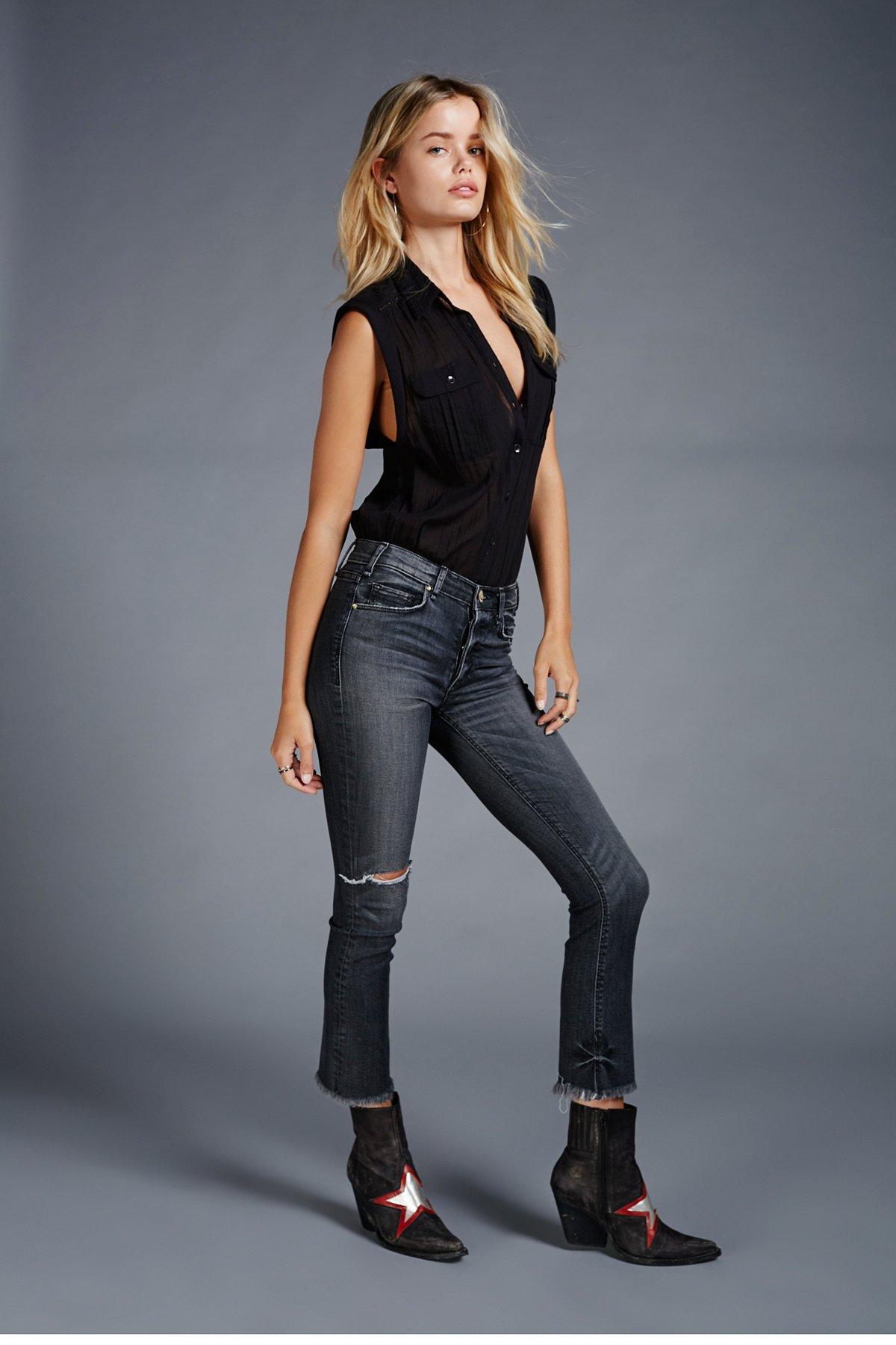 Cropped Valetta Raw Hem Jeans