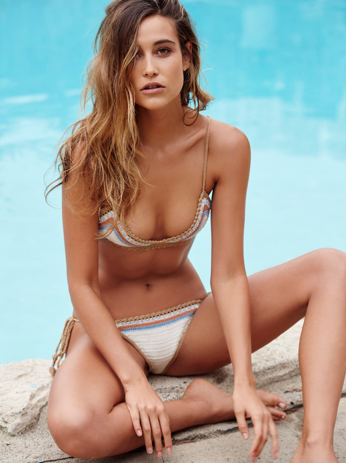 Sari Stripe Tie Side Bikini Bottom