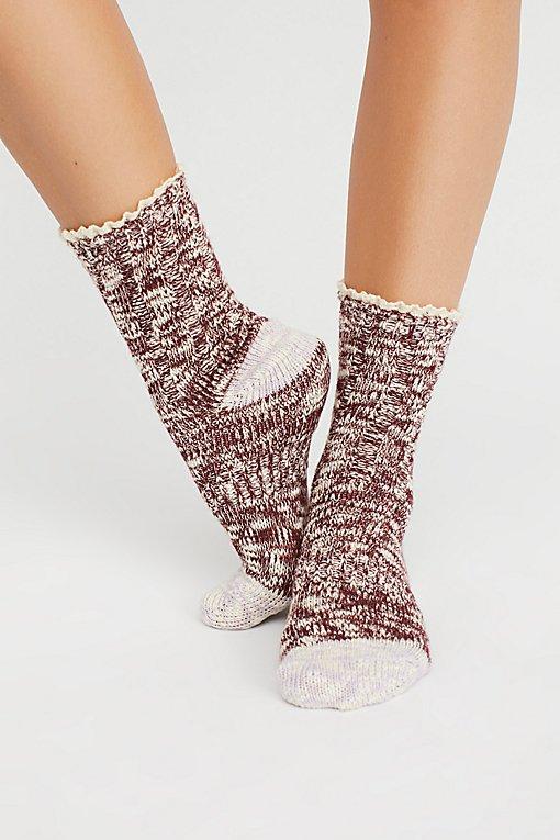 Product Image: Melbourne Heathered Crew Socks