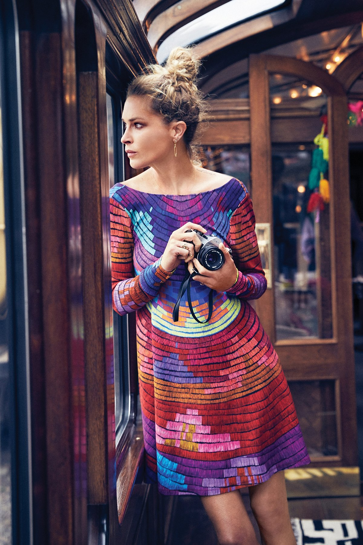 Radial Swing Mini Dress